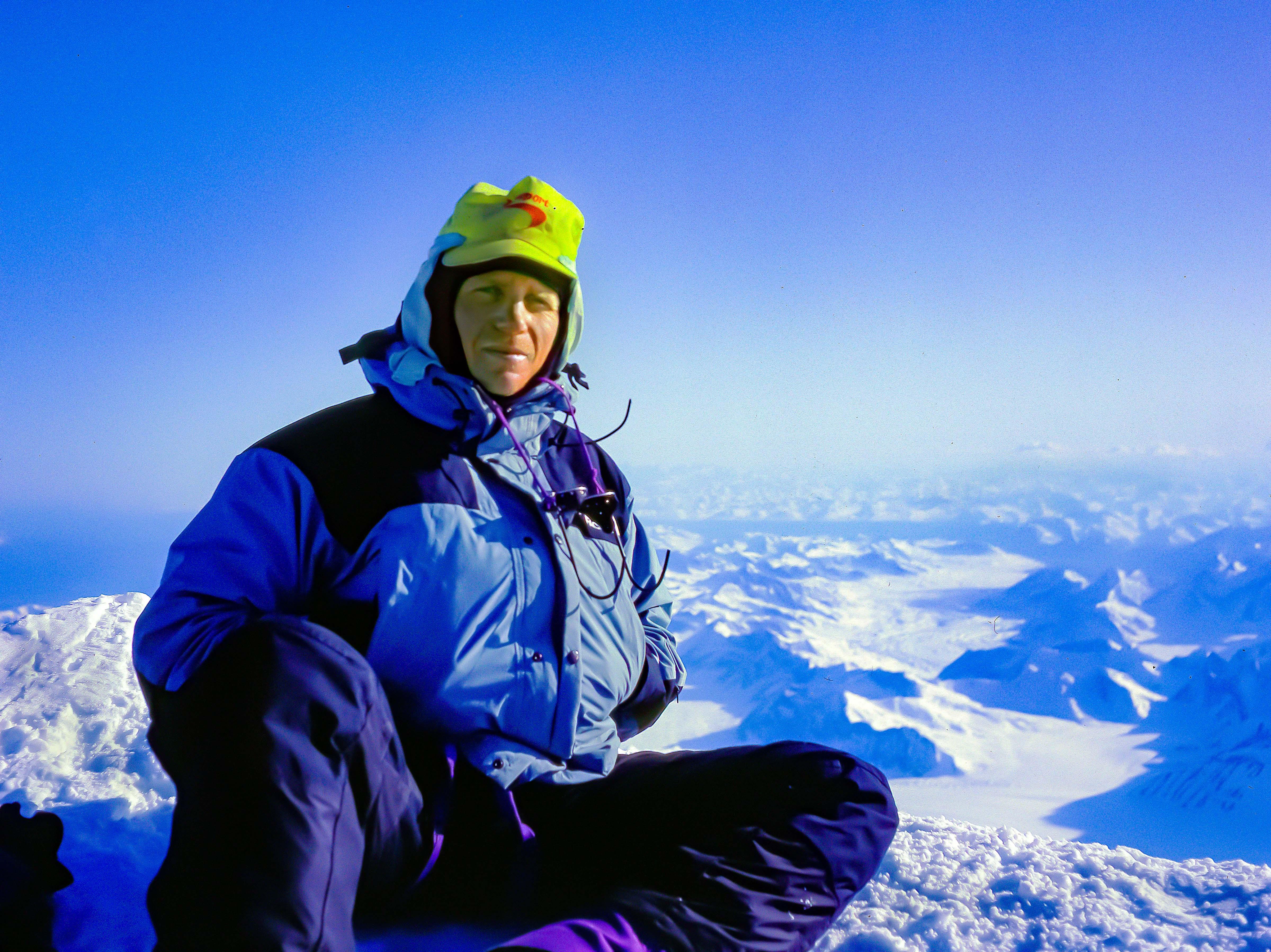 USA, Alaska, Jeff Shea On Denali Summit, 1993