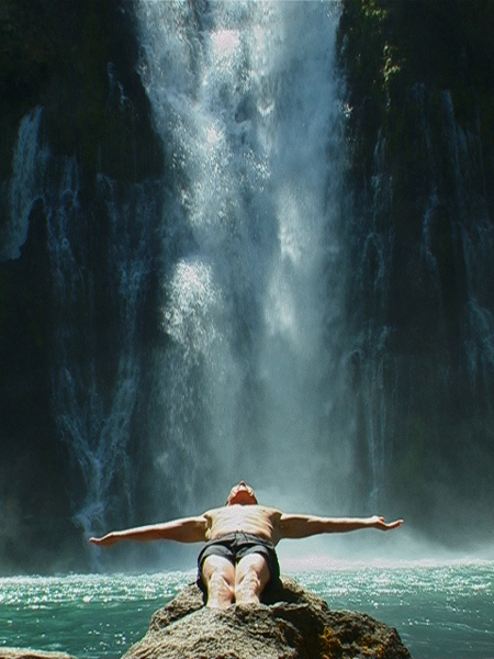 USA, Jeff Shea at Burney Falls, 2001