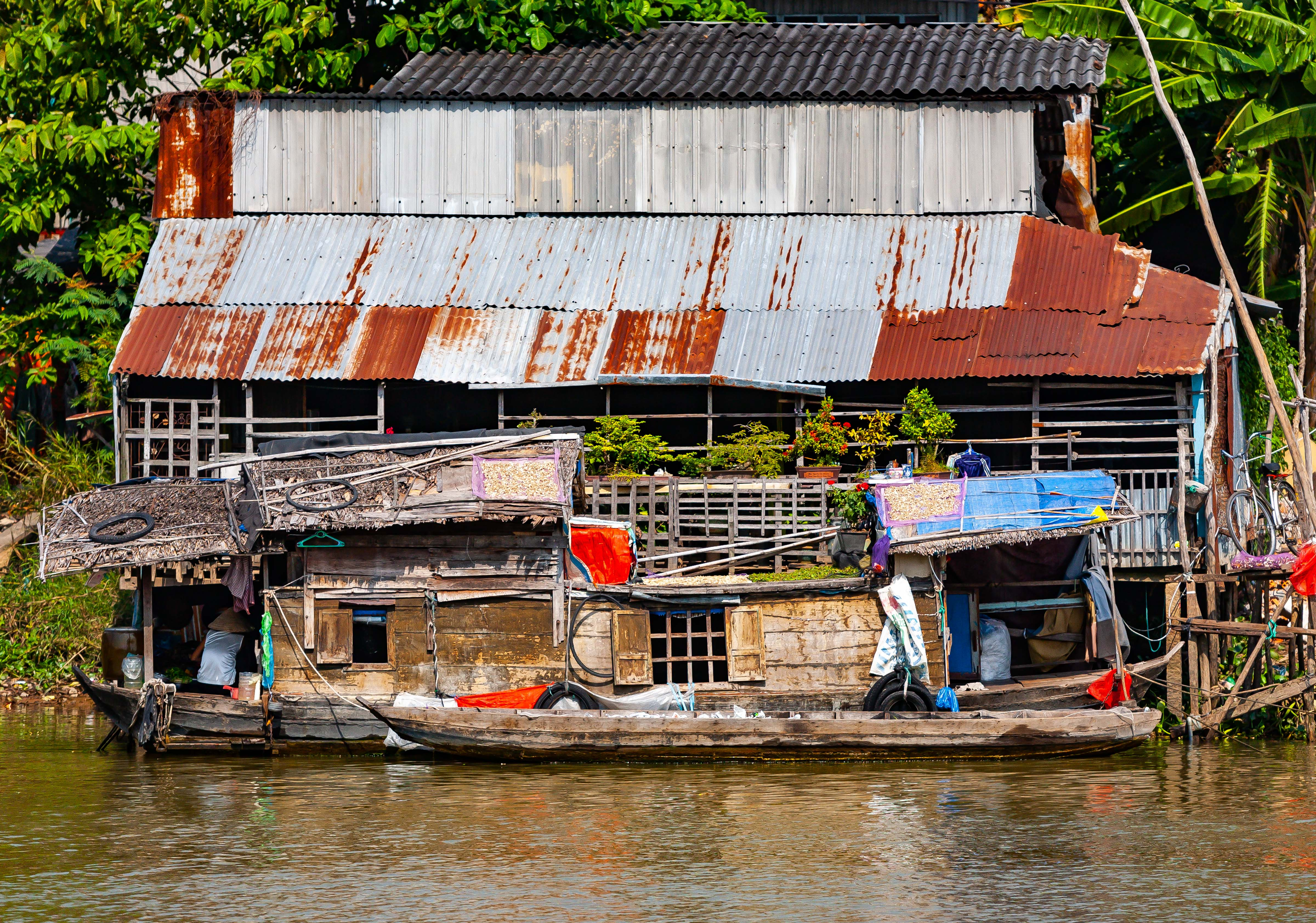 Vietnam, An Giang Prov, House Boat, 2010, IMG 1819