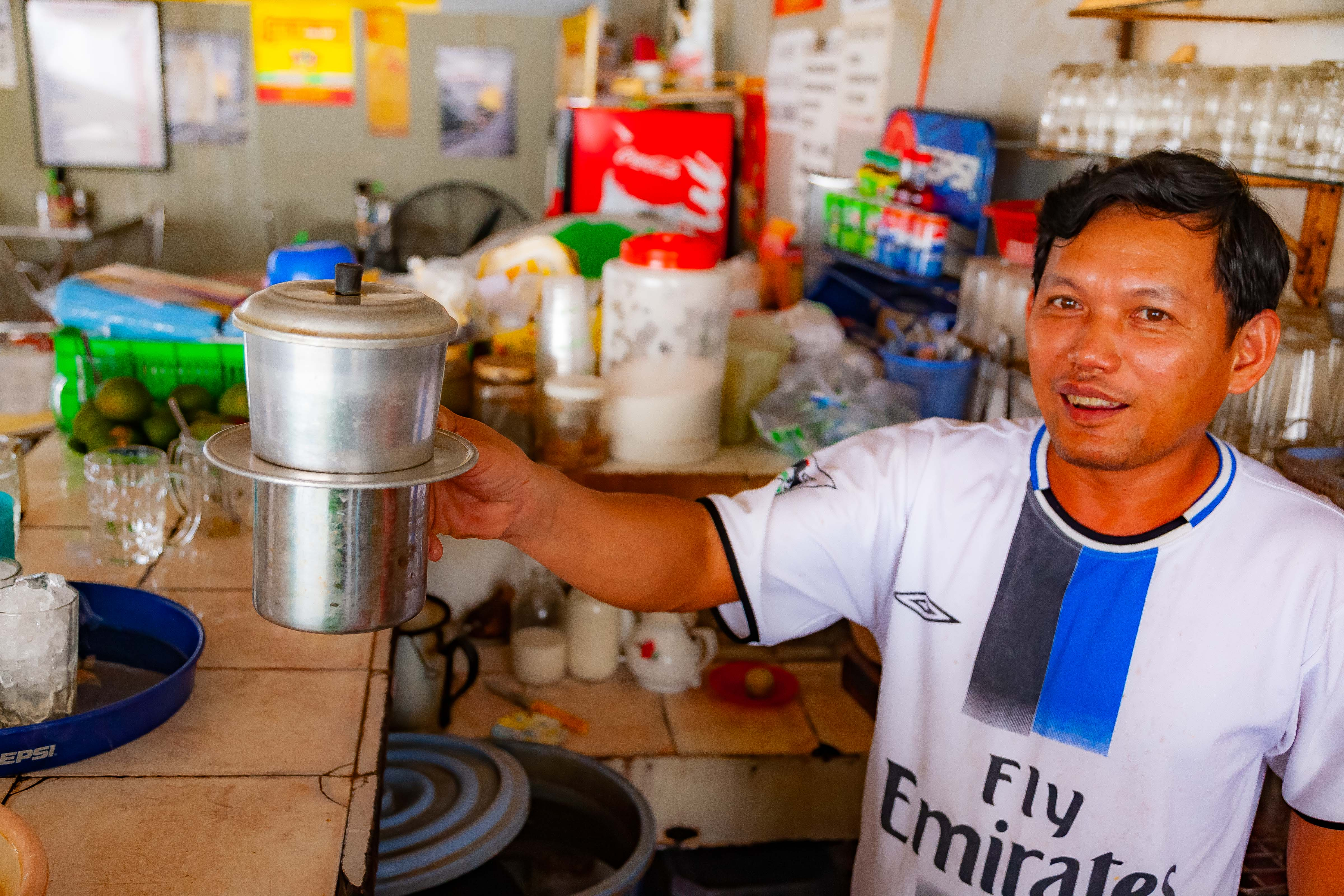 Vietnam, An Giang Prov, Vietnamese Coffee Maker, 2010, IMG 1802