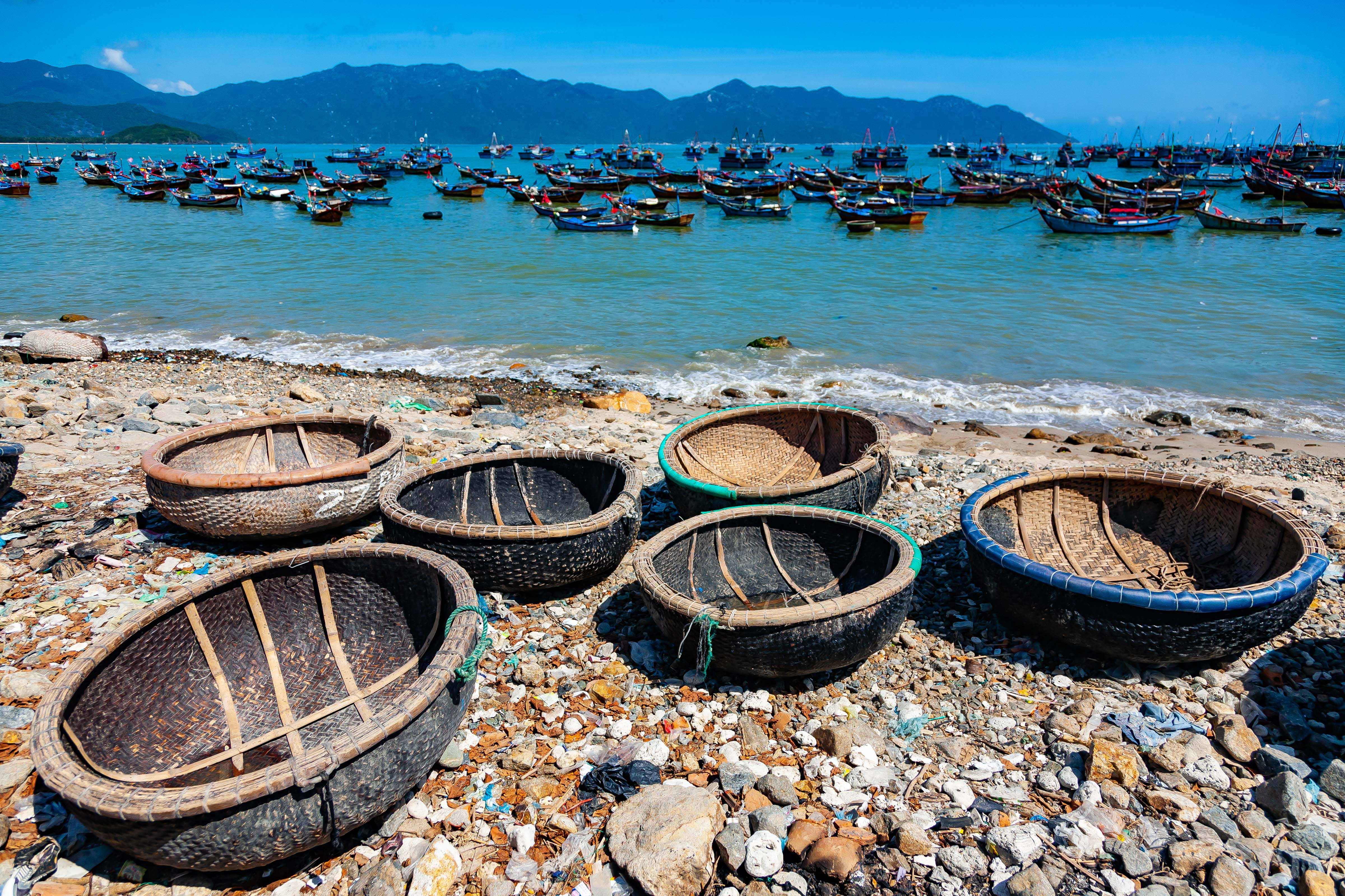 Vietnam, Khanh Hoa Prov, Fishing Baskets And Boats, 2010, IMG 2258