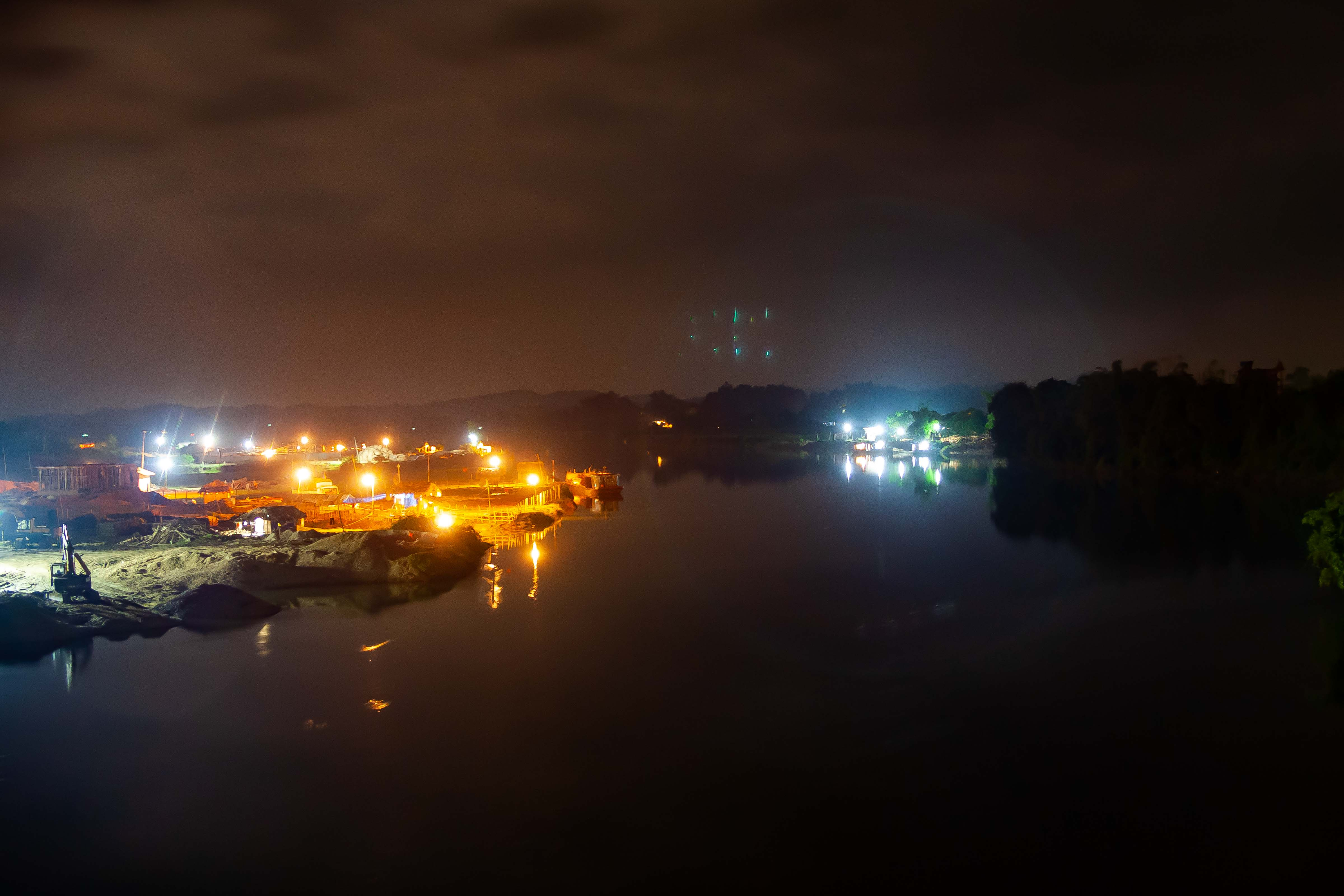 Vietnam, Phu Tho Prov, Night River, 2008, IMG 8767