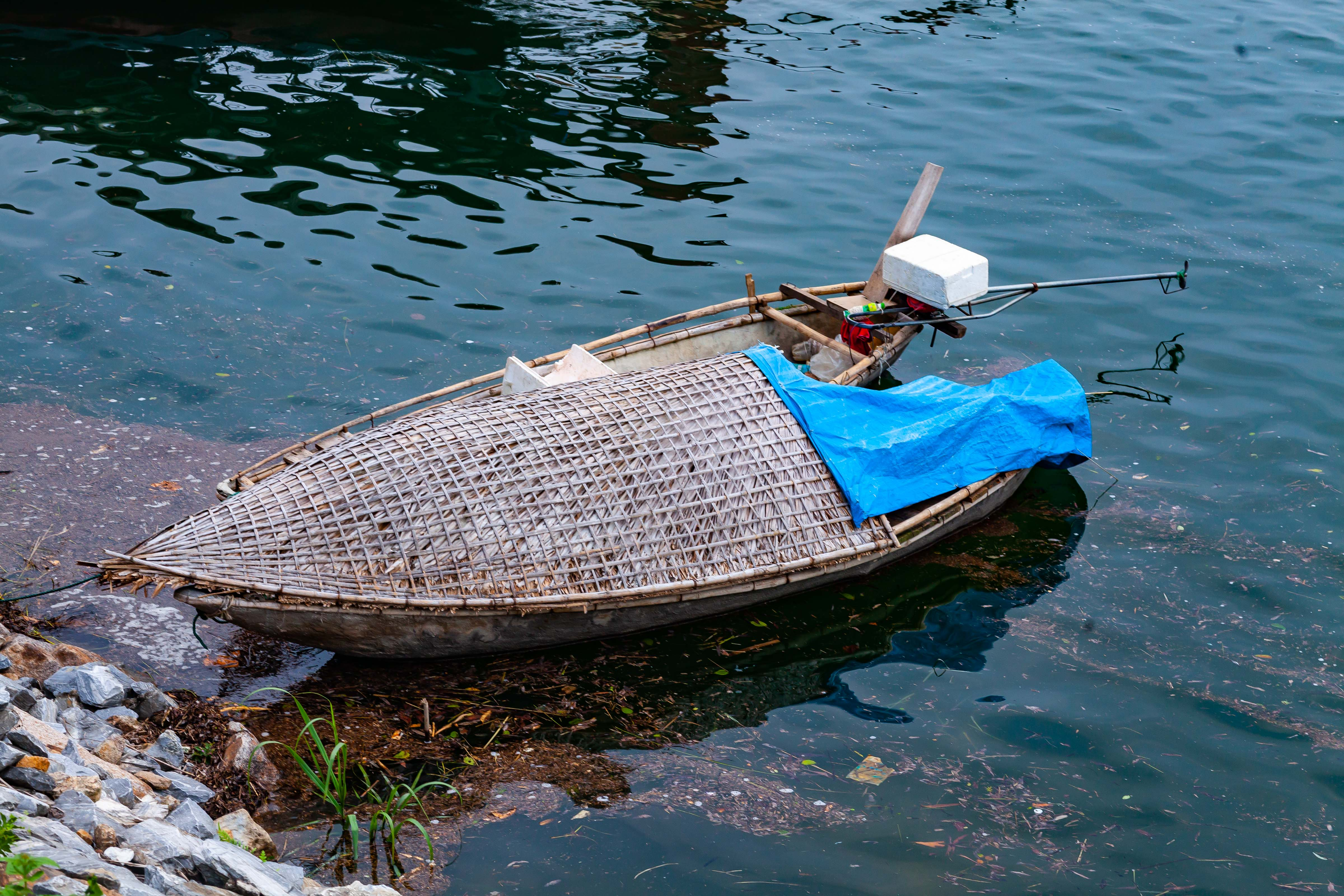 Vietnam, Yen Bai Prov, Covered Fishing Boat, 2011, IMG 1137