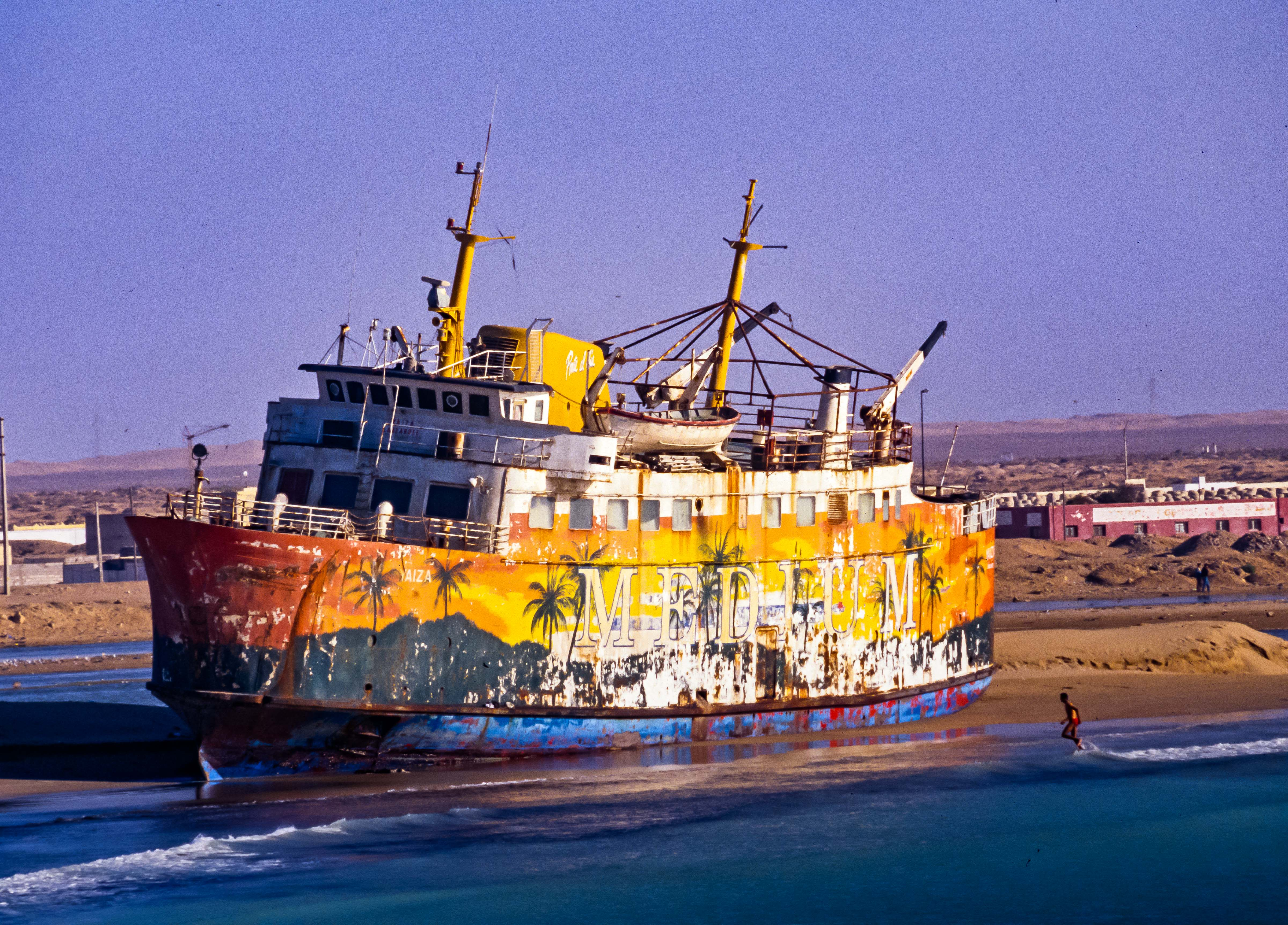 Western Sahara, Beached Ship, 2000