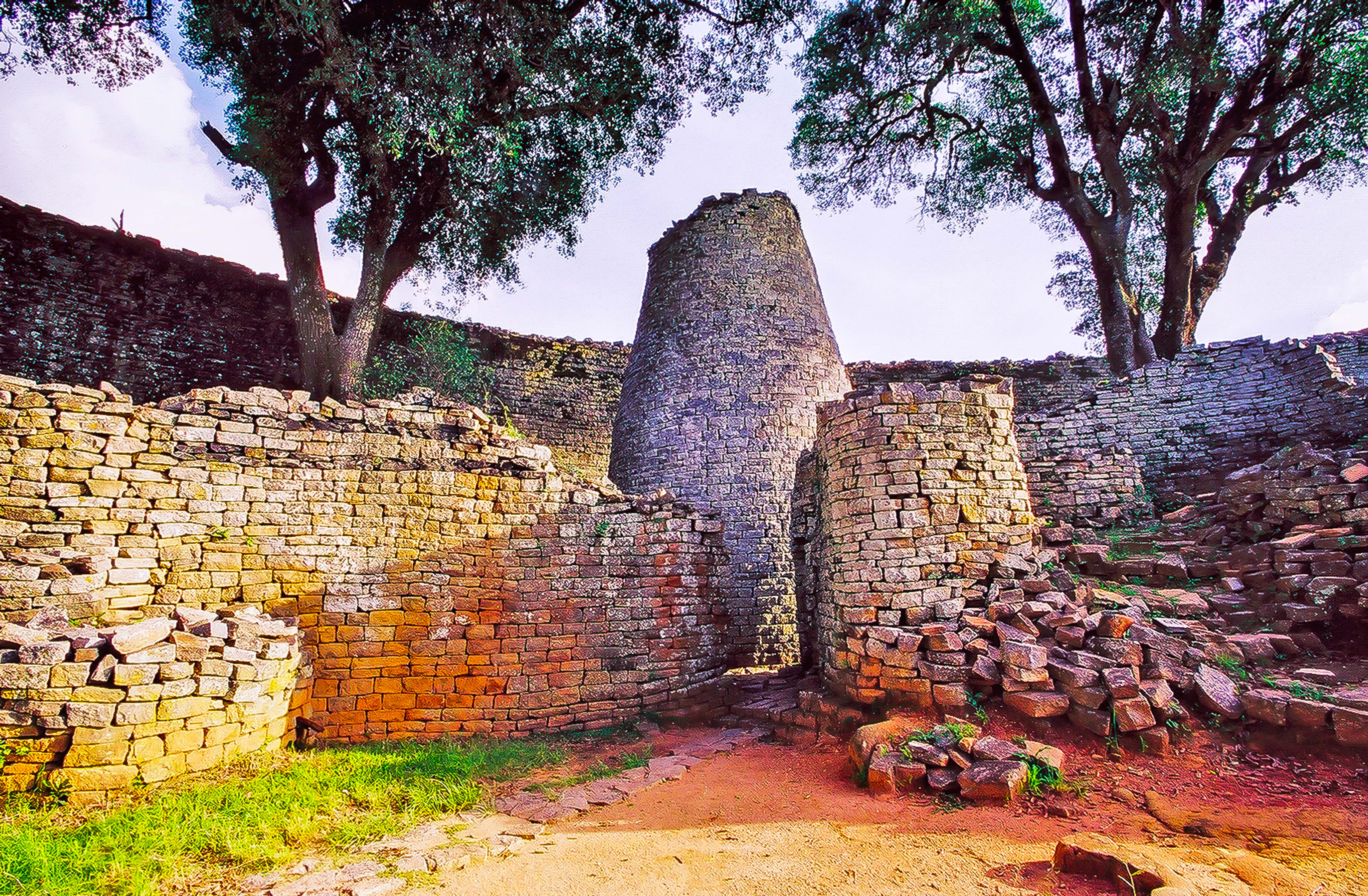 Zimbabwe, Masvingo Prov, Great Zimbabwe Monument, 2000, 35mm.1