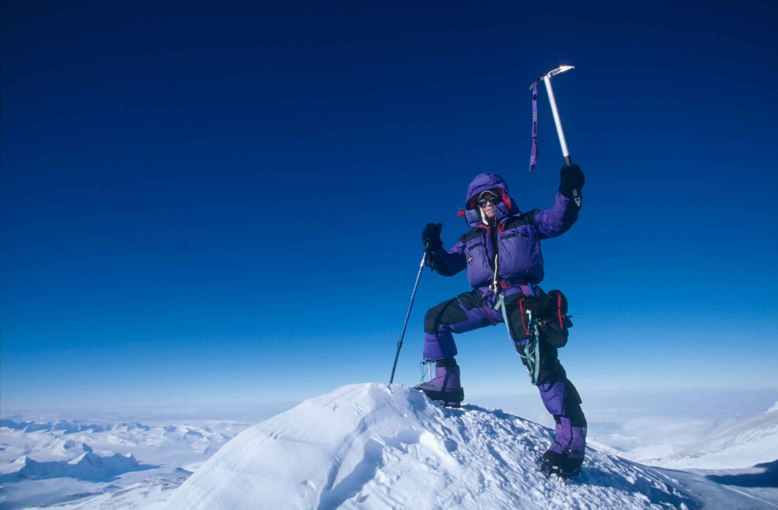 Antarctica, Jeff Shea Completes the Seven Summits Atop Mount Vinson, 1997