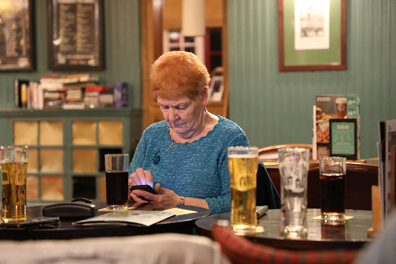 UK, Thurrock County, Woman In Pub, 2019