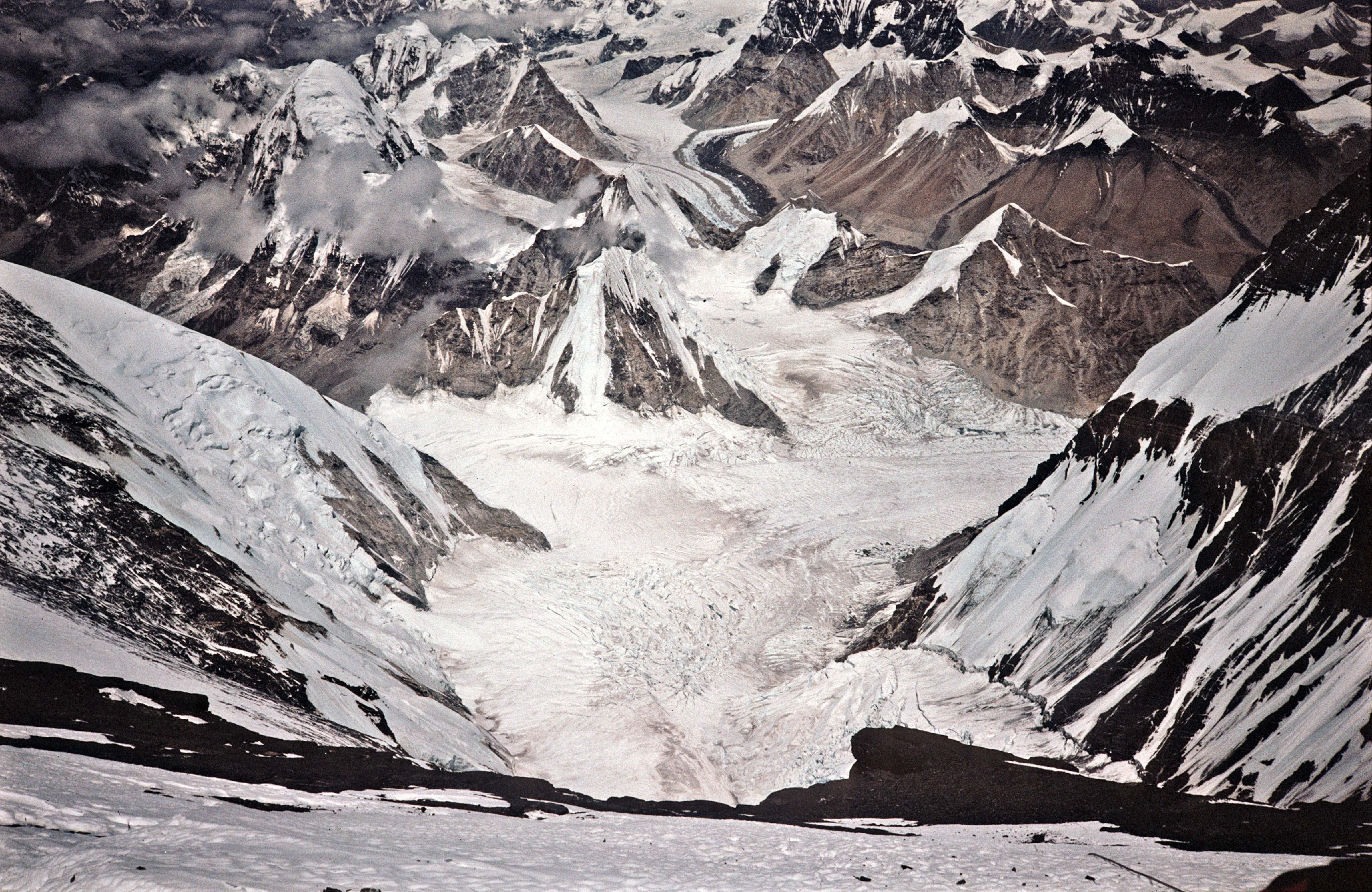Everest, View Down About 2500m, from about 8000m