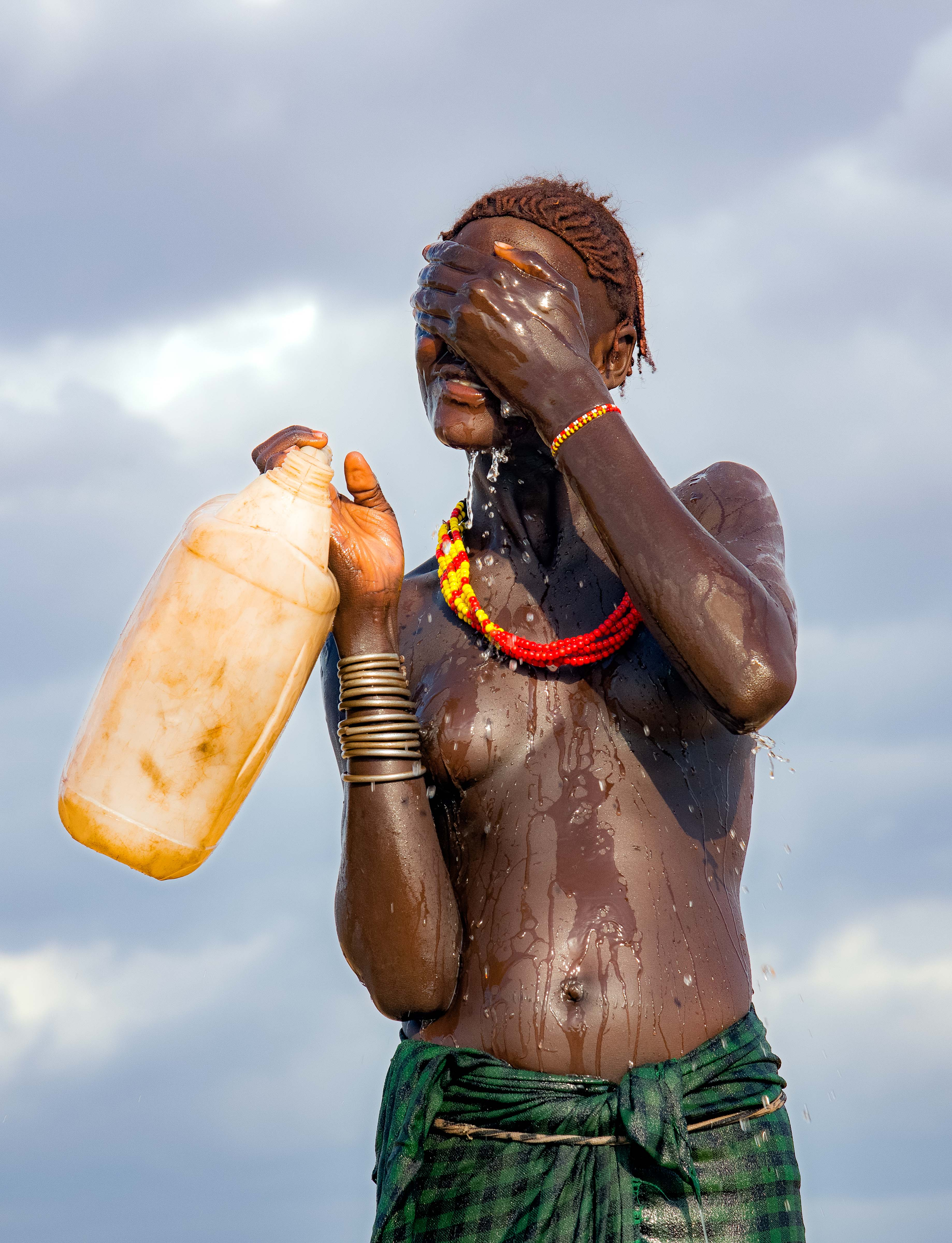 Dasenech Girl with Water Jug
