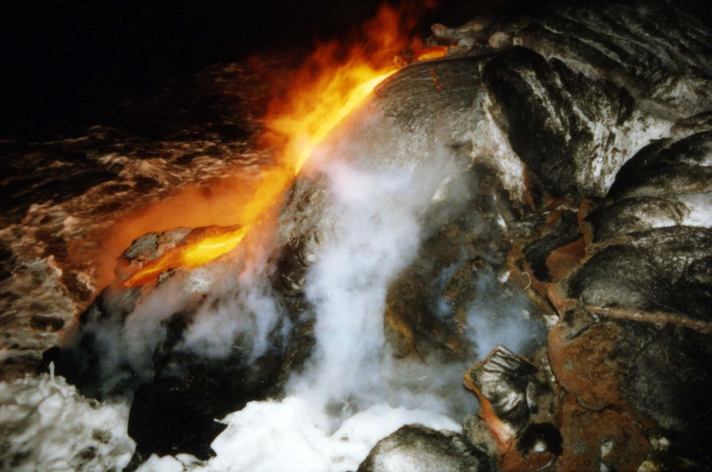 Lava Pours into the Sea