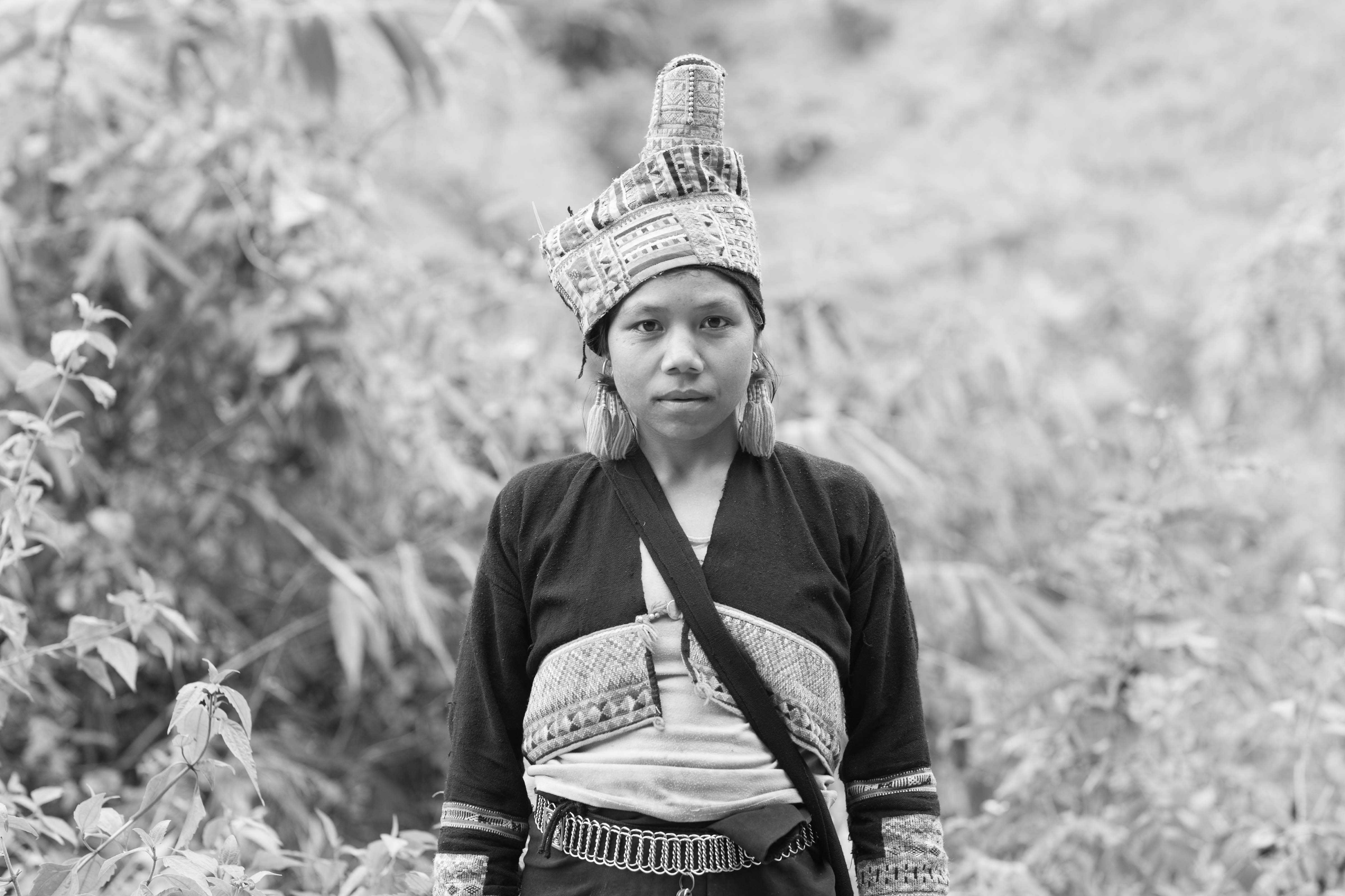 Tribal Girl with Embroidered Vest
