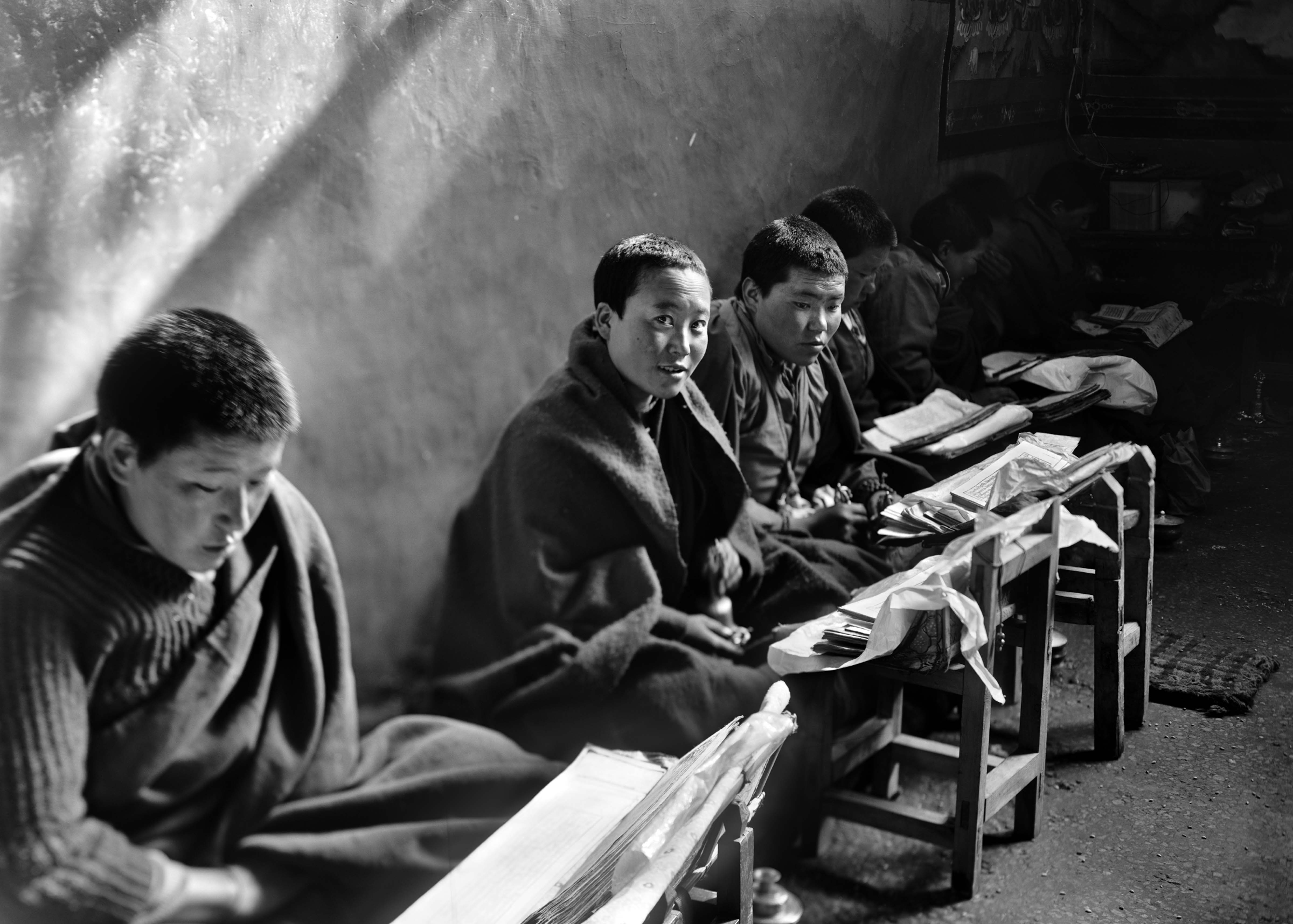 Monks in Study