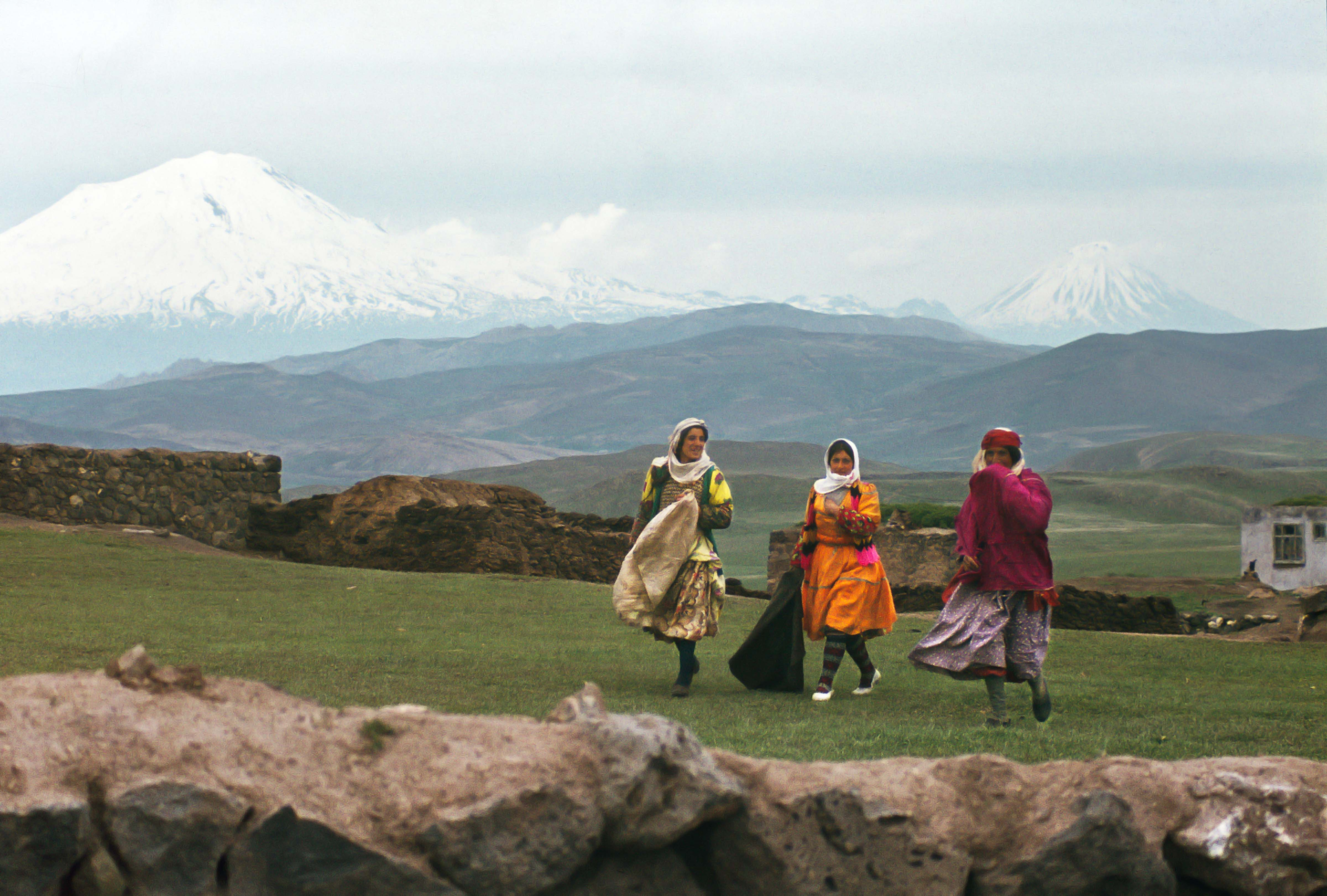 Mount Ararat and Three Kurdish Women