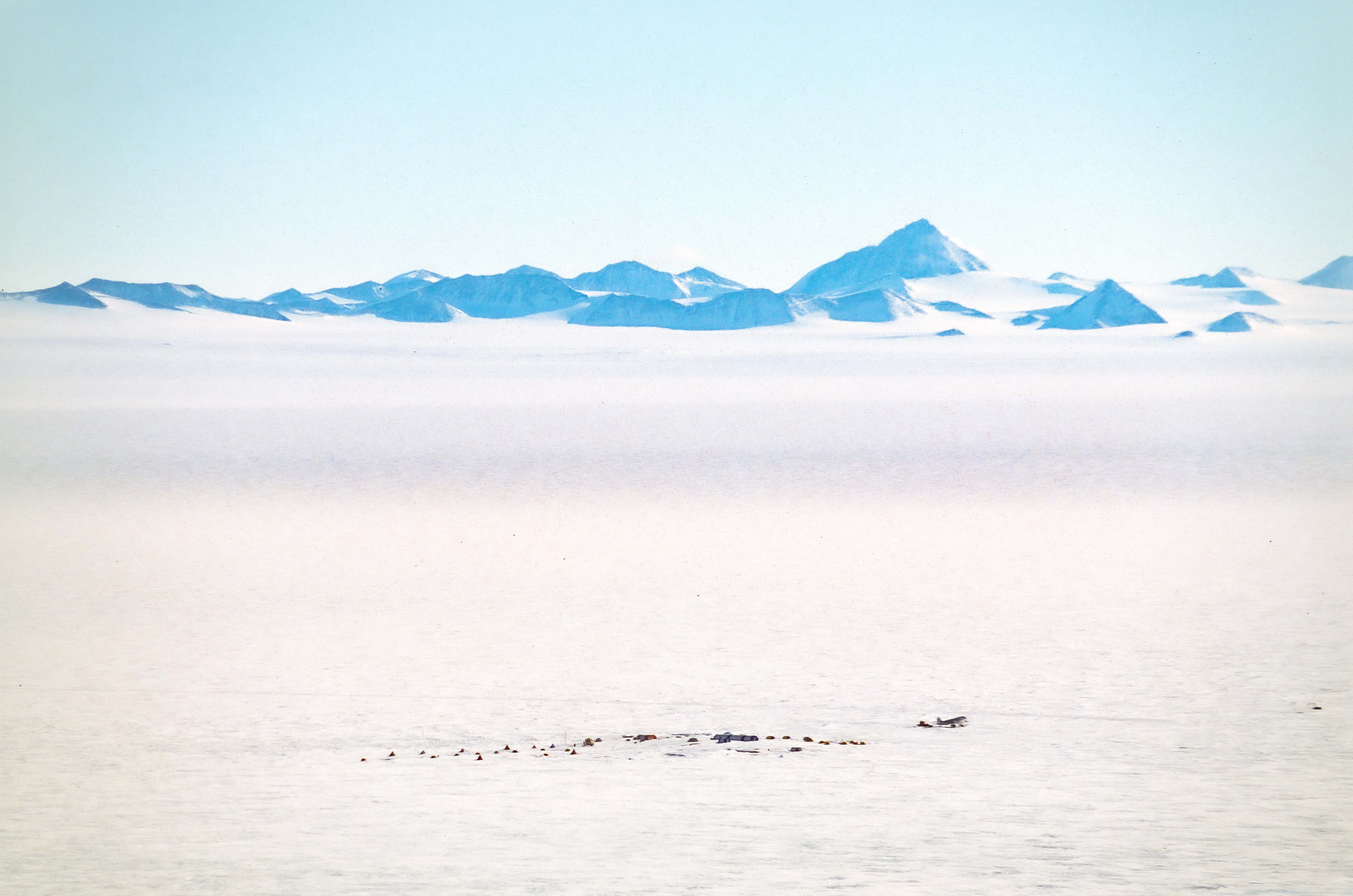 Antarctica, Patriot Hills in Foreground of Mountains, 2001