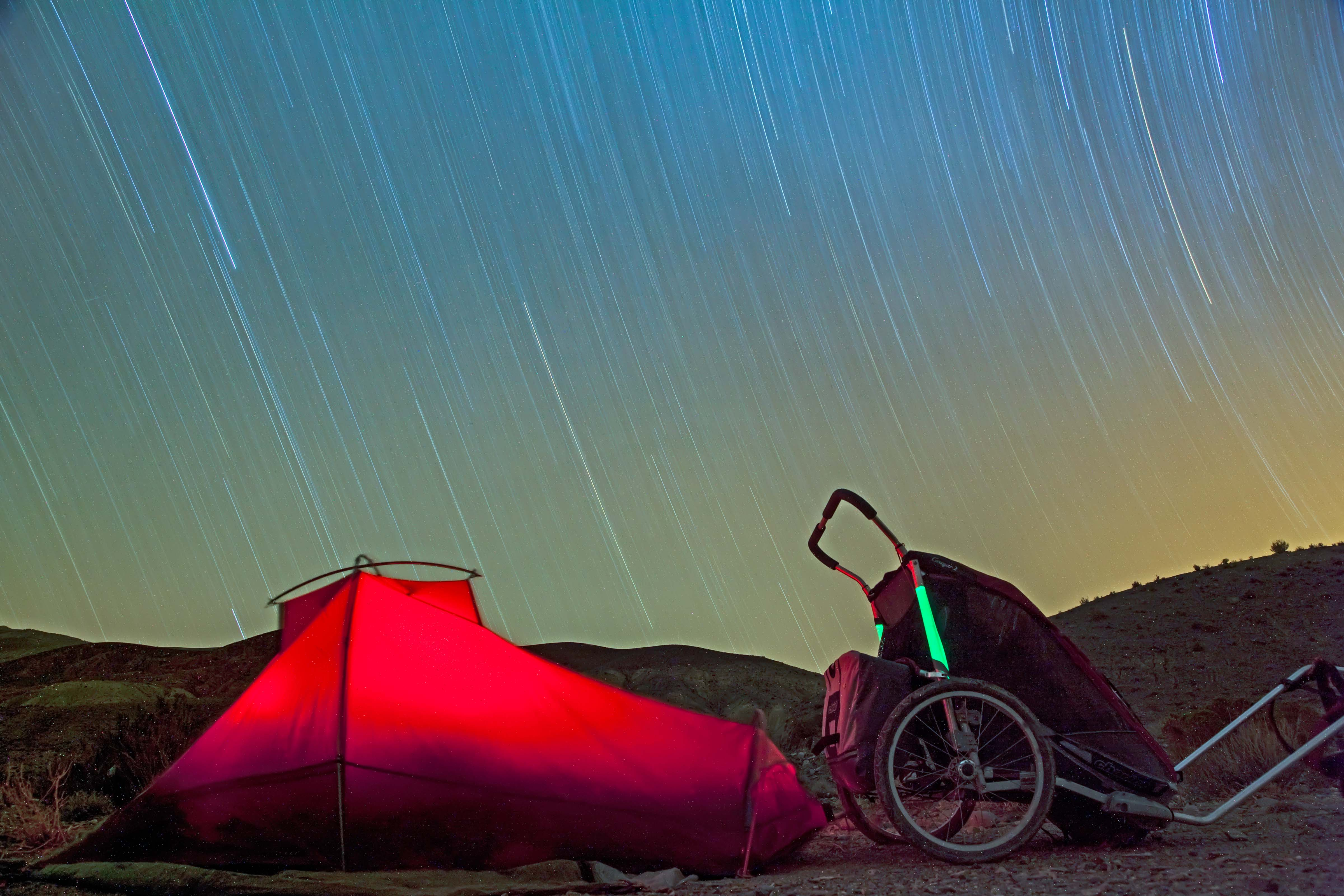 Argentina, Jujuy Province, In Tent with Chariot under Stars, 2010, IMG 6231r5