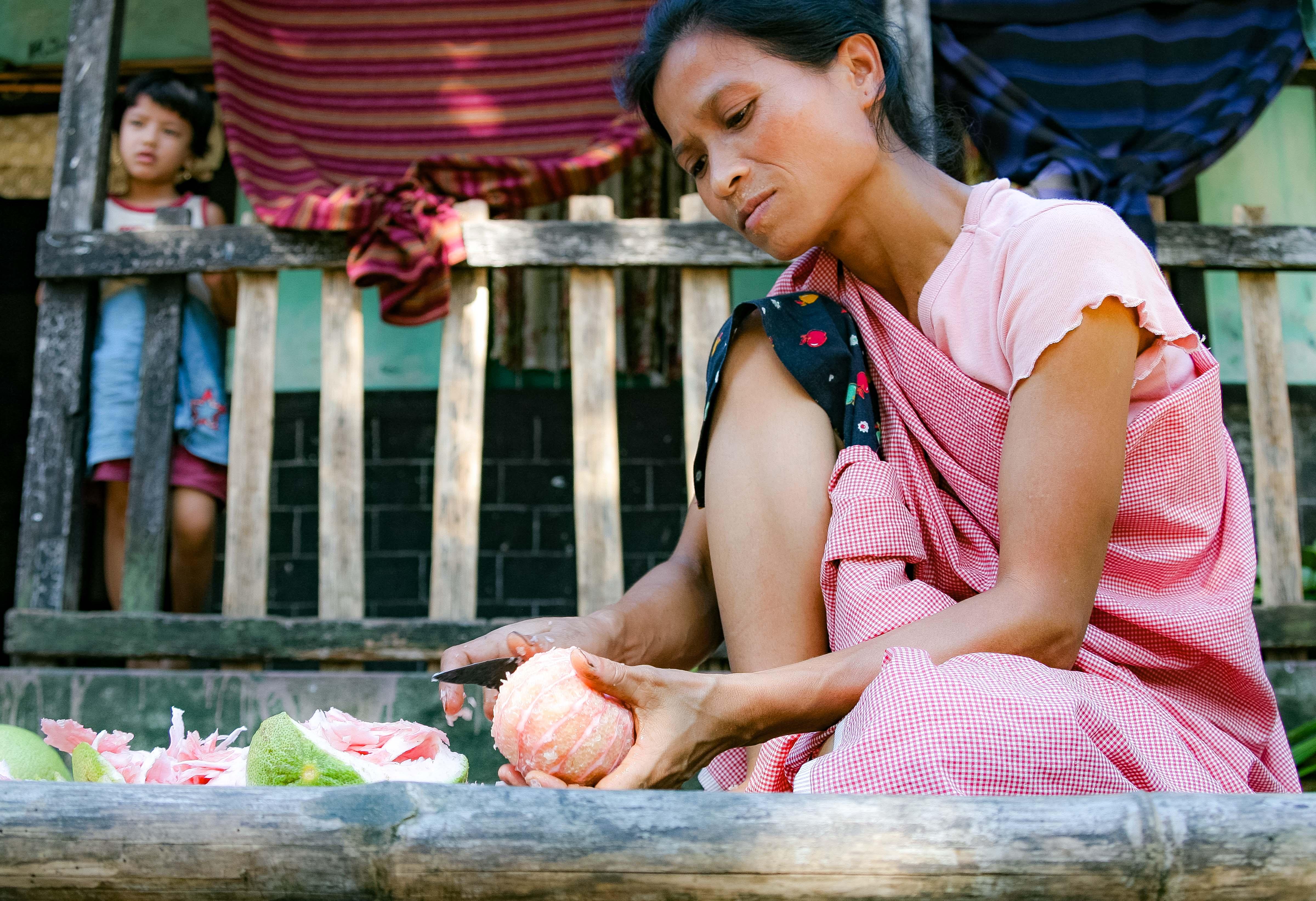 Bangladesh, Sylhet Prov, Woman Prepares Food, 2009, IMG 8186