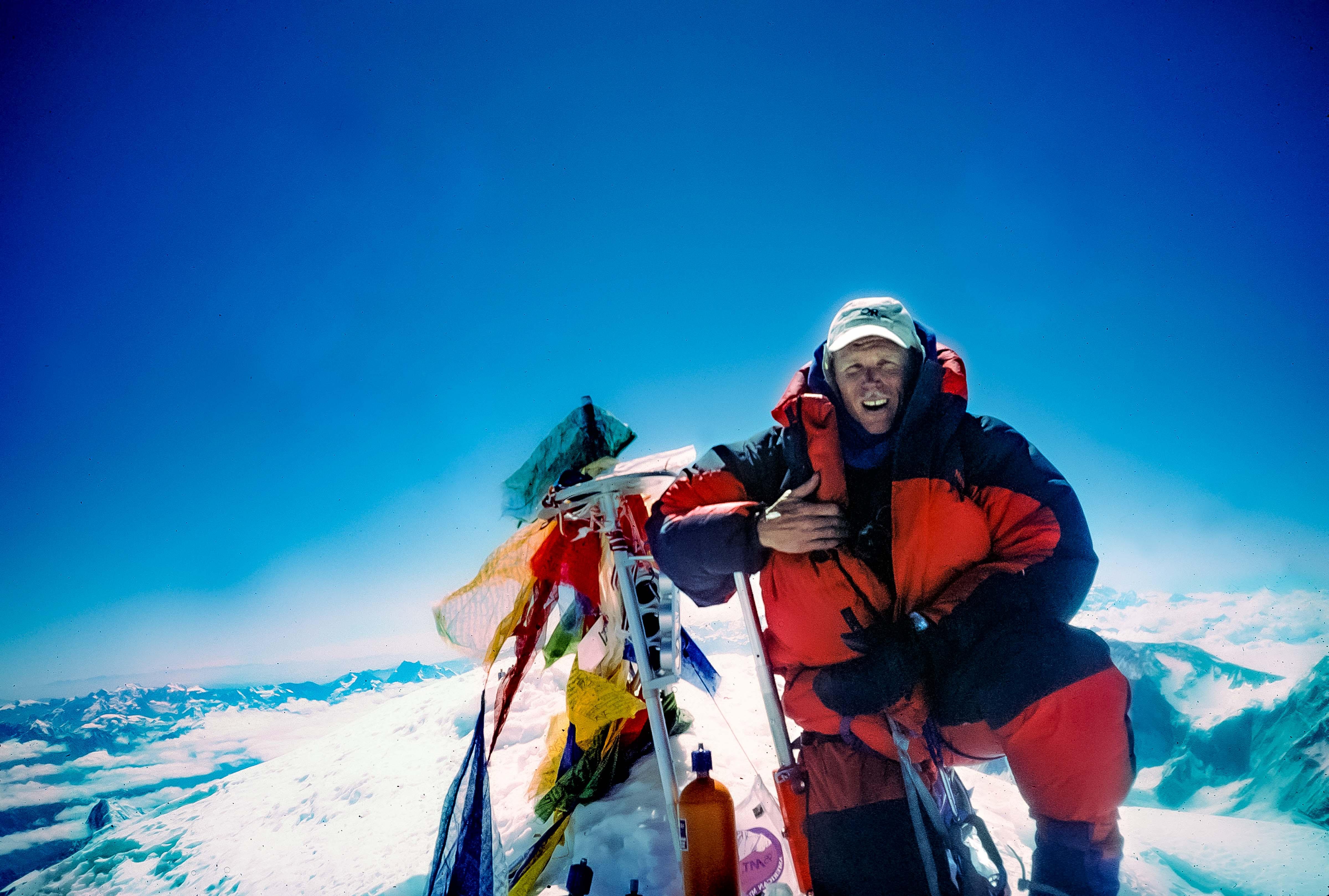 China Xizang (Tibet) Prov, Jeff Shea Everest Summit May 24, 1995 9a.m., 1995, 35mmSlide