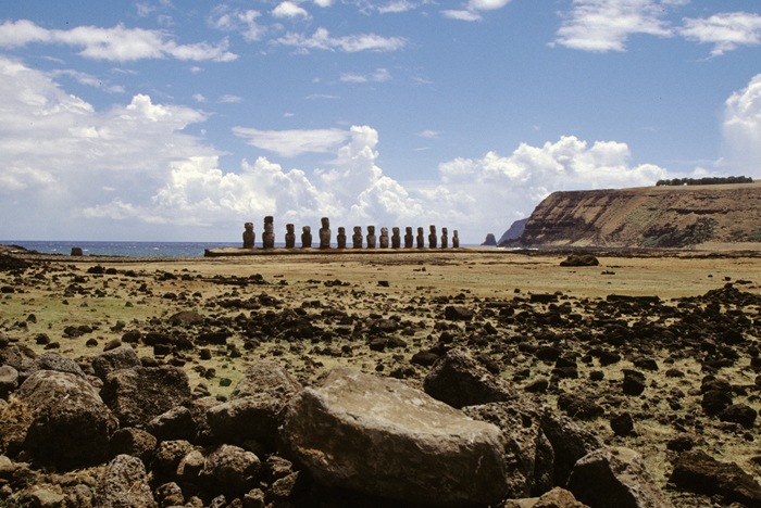 Easter Island, Moai From A Distance, 1997