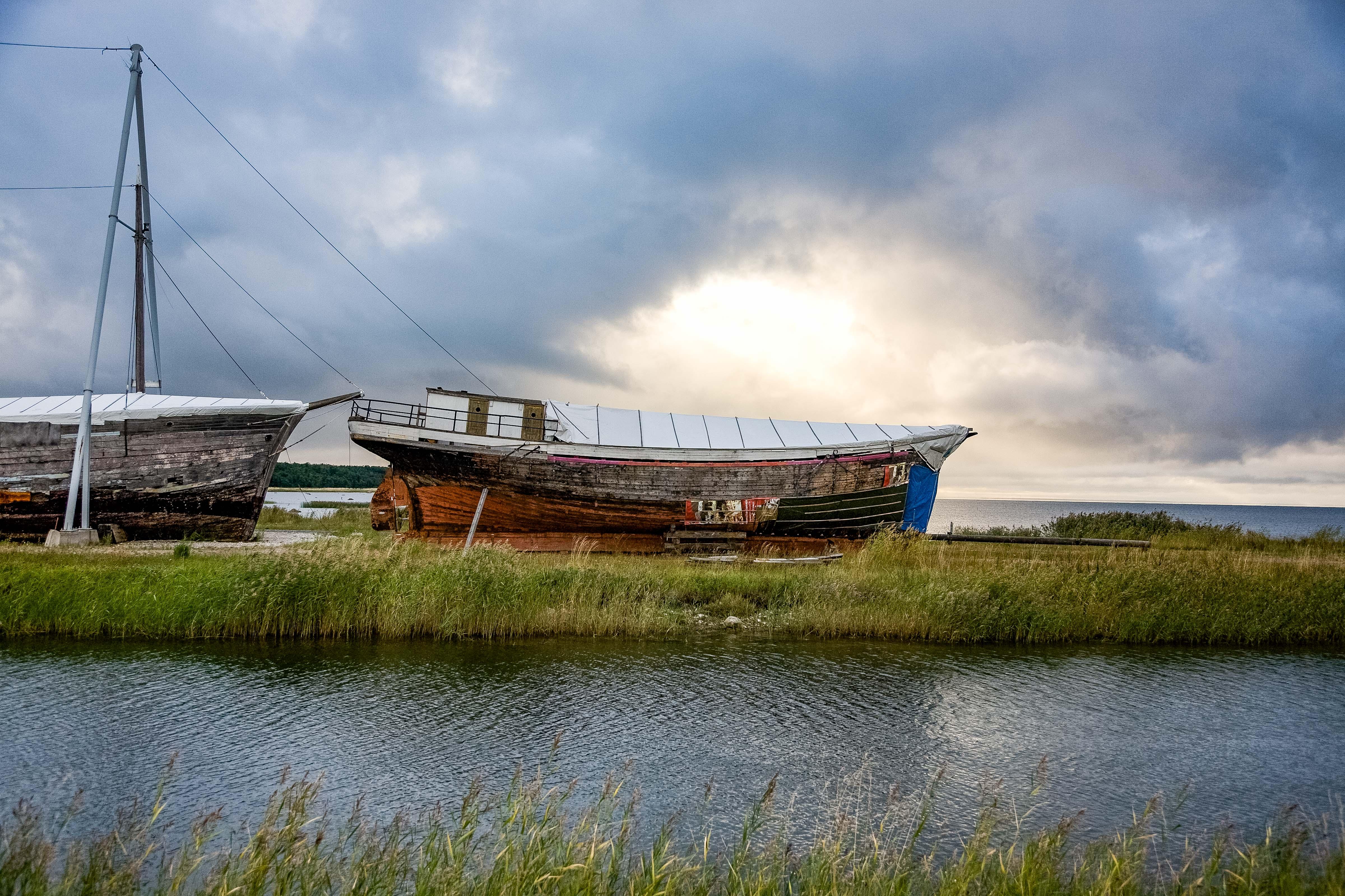 Estonia, Hiumaa Prov, Boat On Land, 2010, IMG_1019
