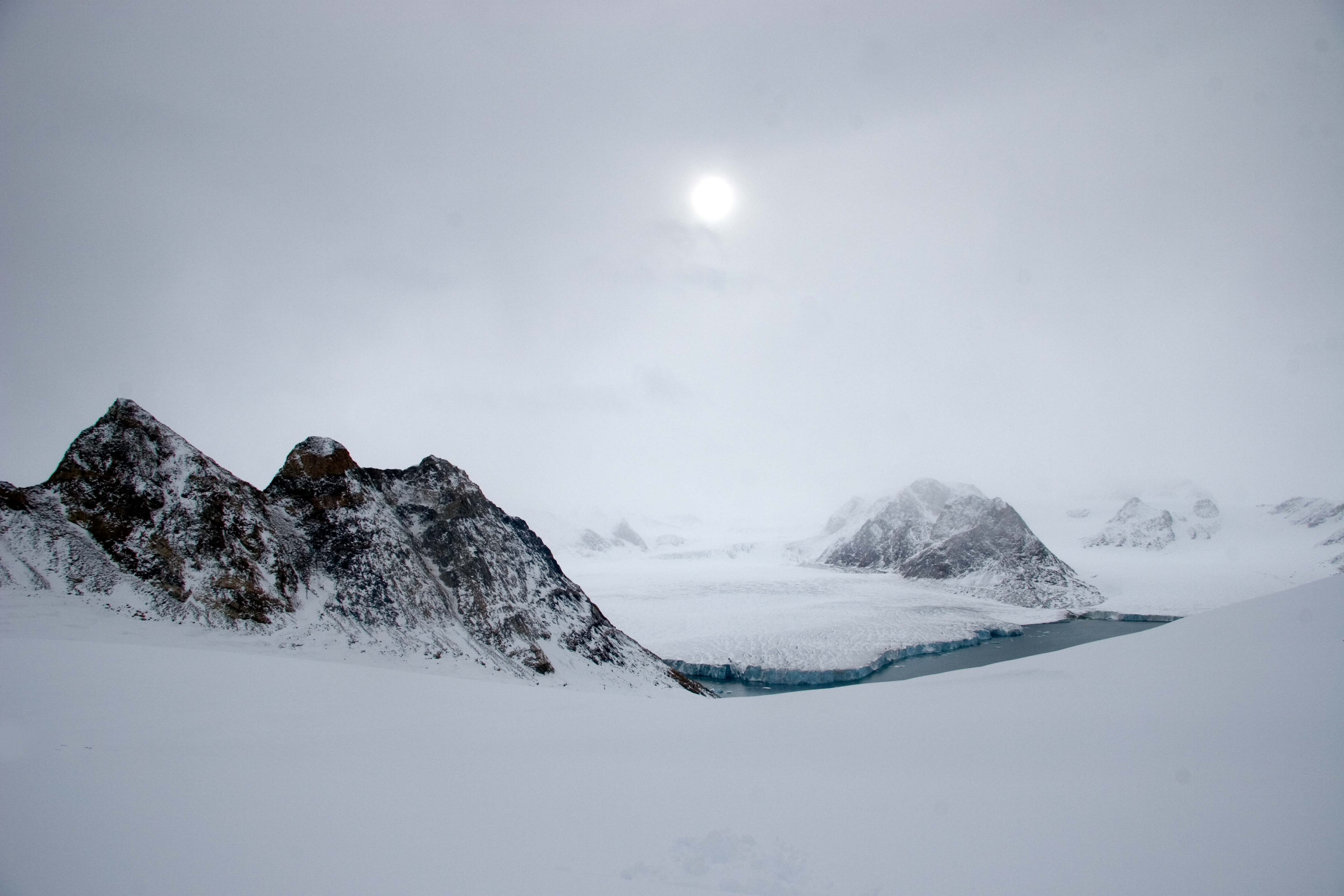 Greenland, Warming Island, off coast of Liverpool Land, New Strait and Pinnacles After Storm, 2006