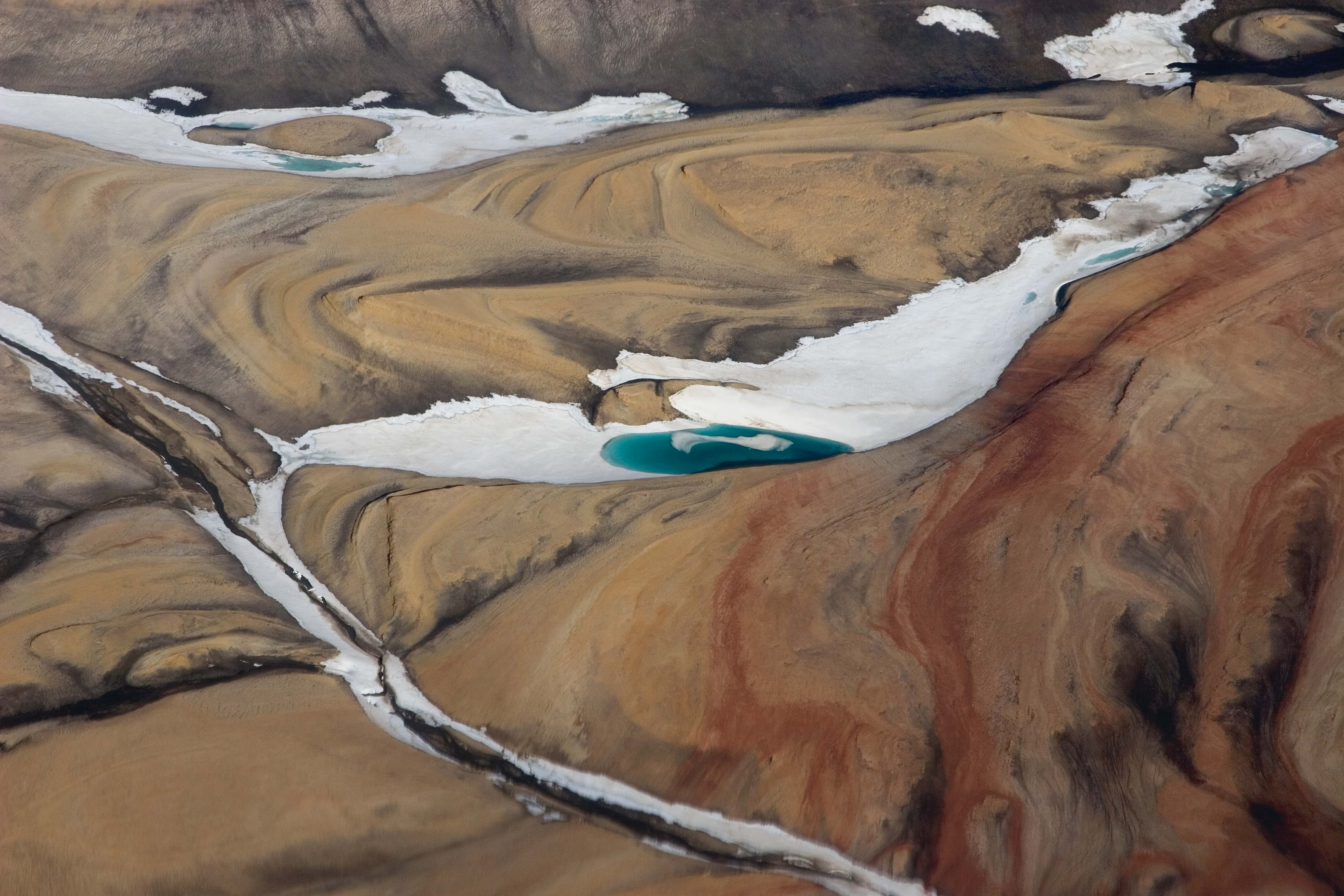 Greenland, Peary Land, Landscape Aerial, 2007