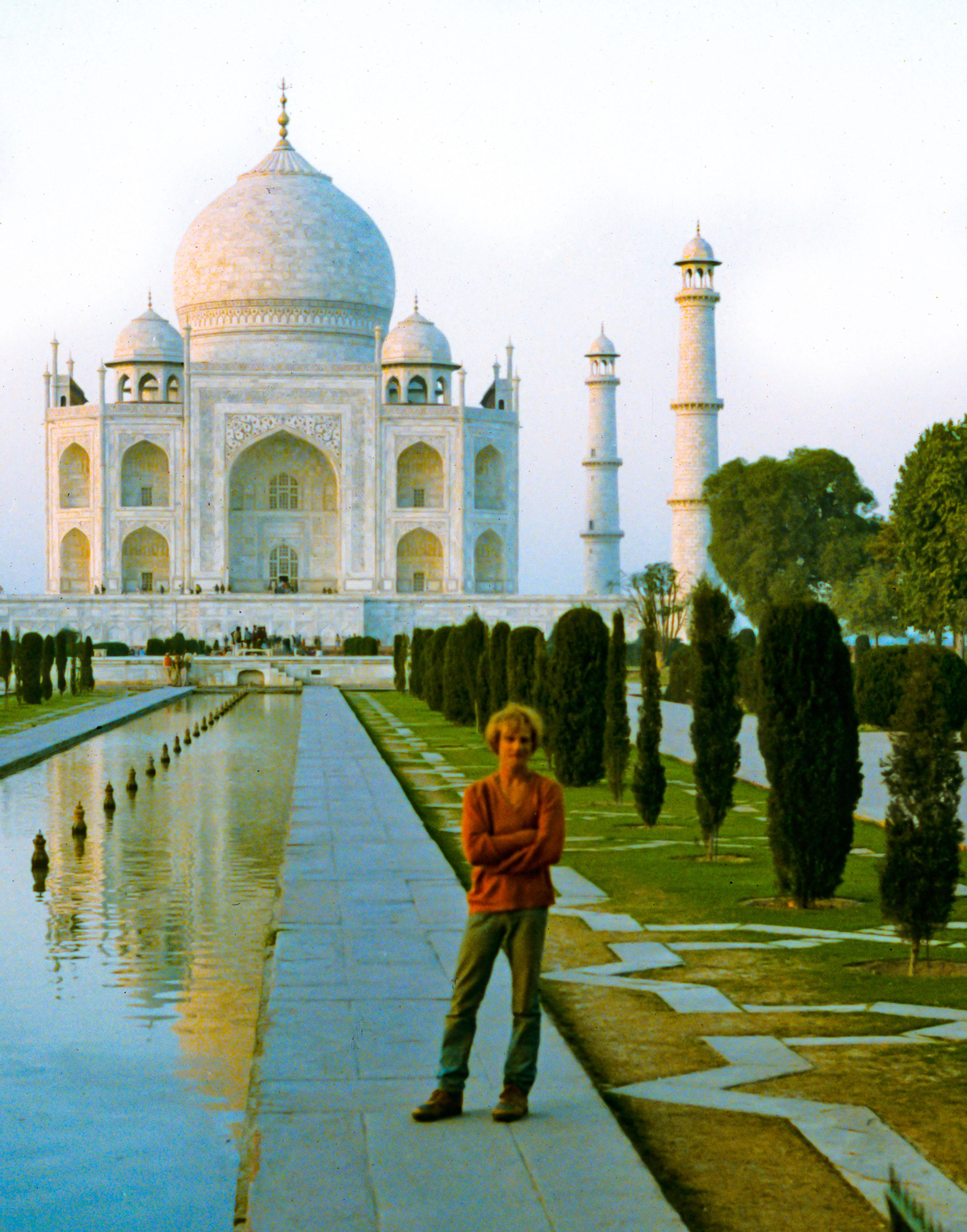 India, Jeff Shea At Taj Mahal After Pilgrimage, 1984