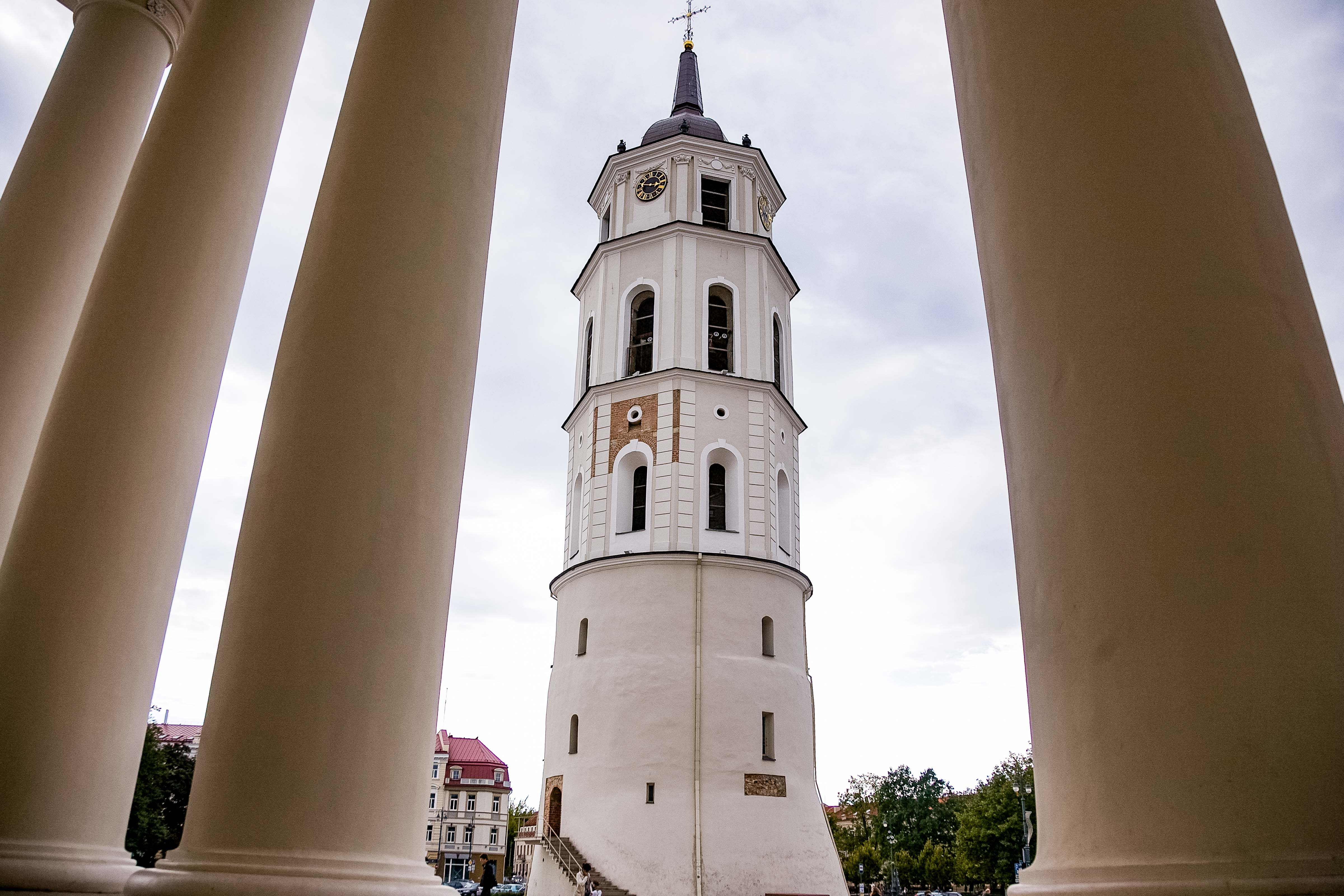Lithuania, Vilnius, Cathedral Pillars And Tower, 2010, IMG_3092