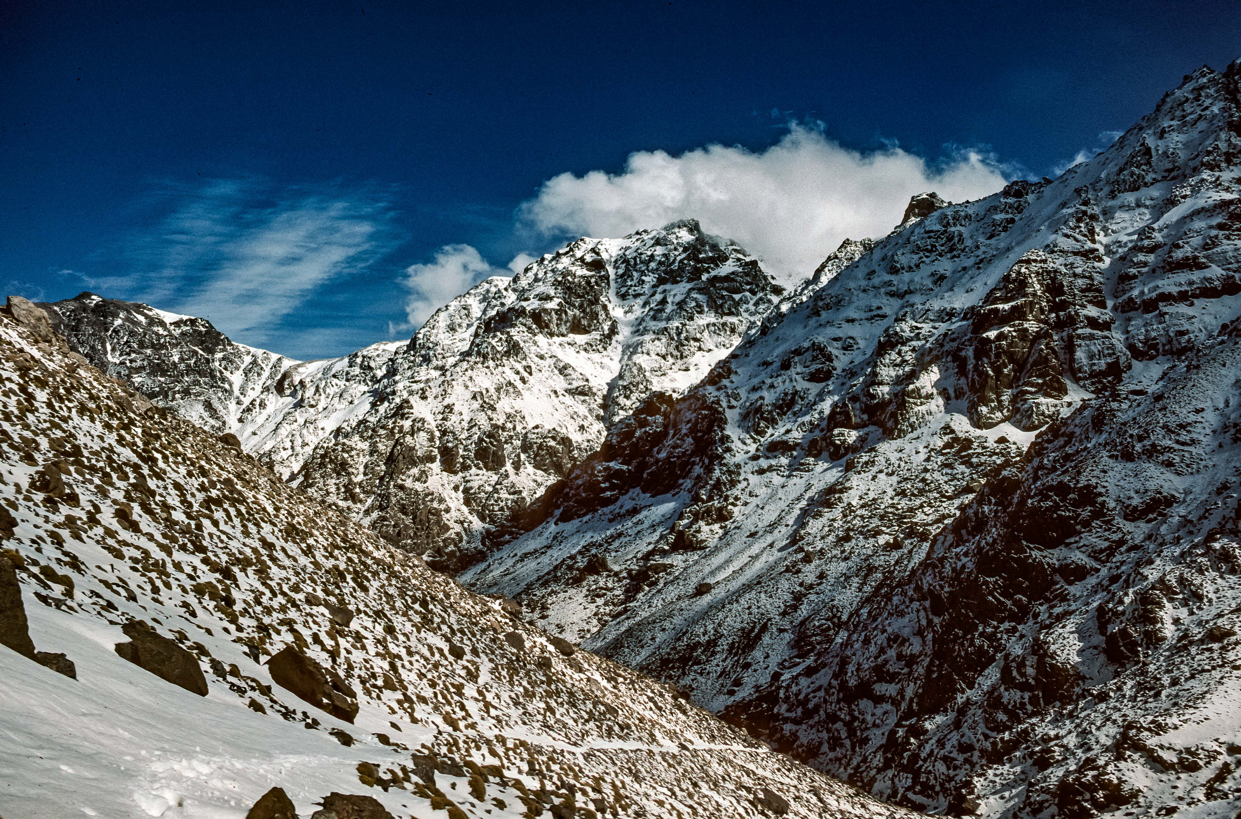 Morocco, Trail Up The Snowy Atlas, 1988