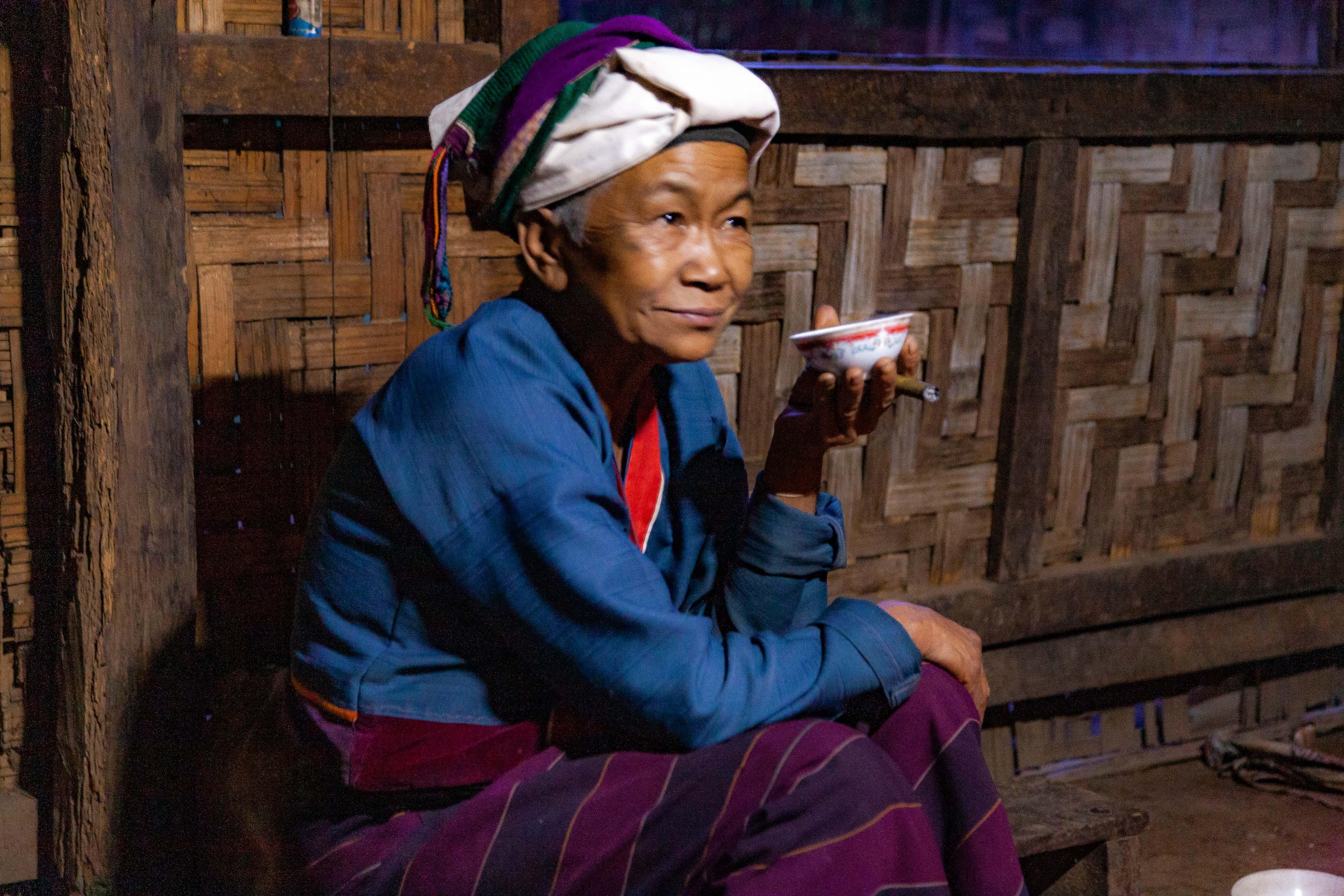 Myanmar, Shan Prov, Old Woman, 2009, IMG 4325
