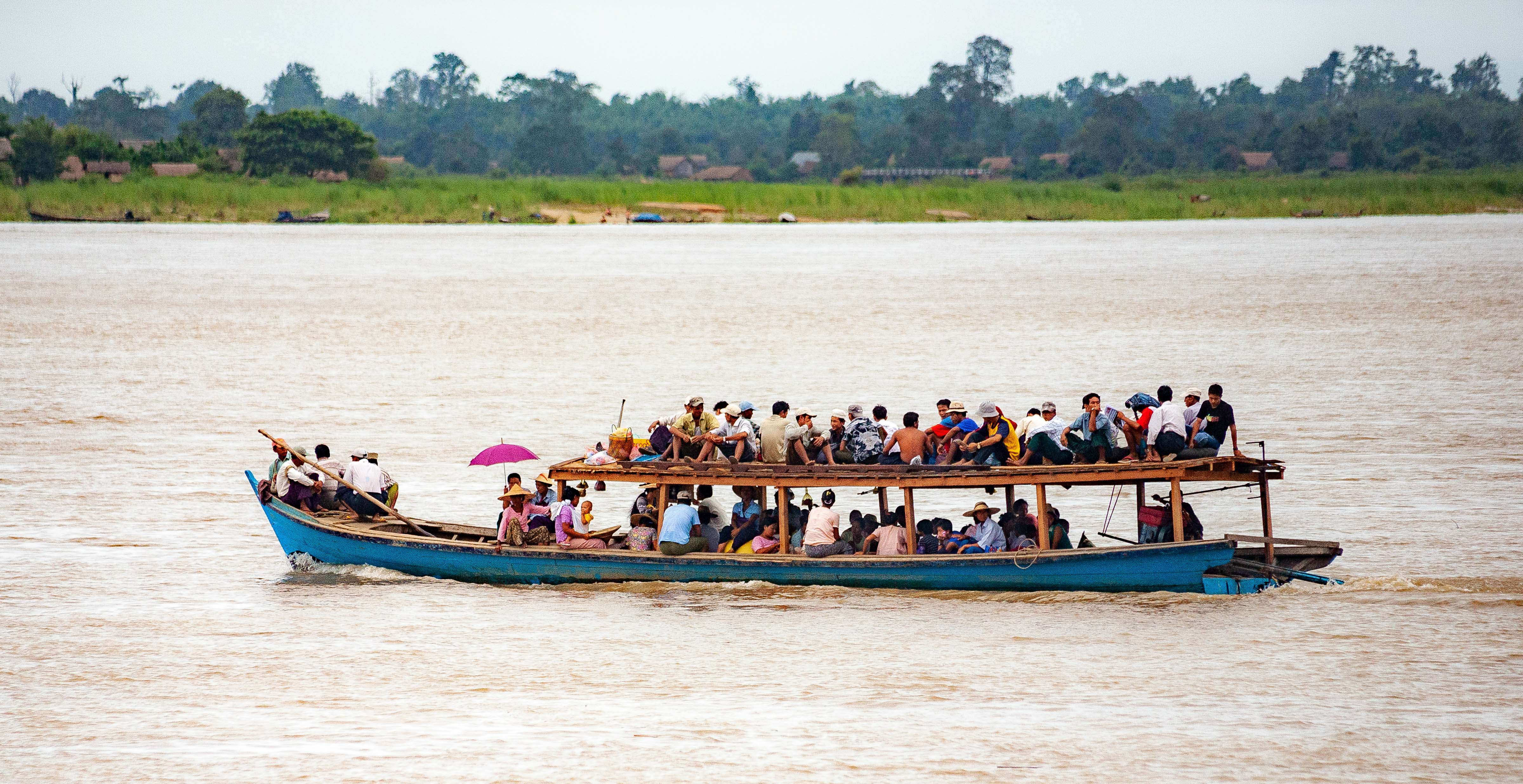 Myanmar, Unknown Prov, Packed Boat, 2009, IMG 3722