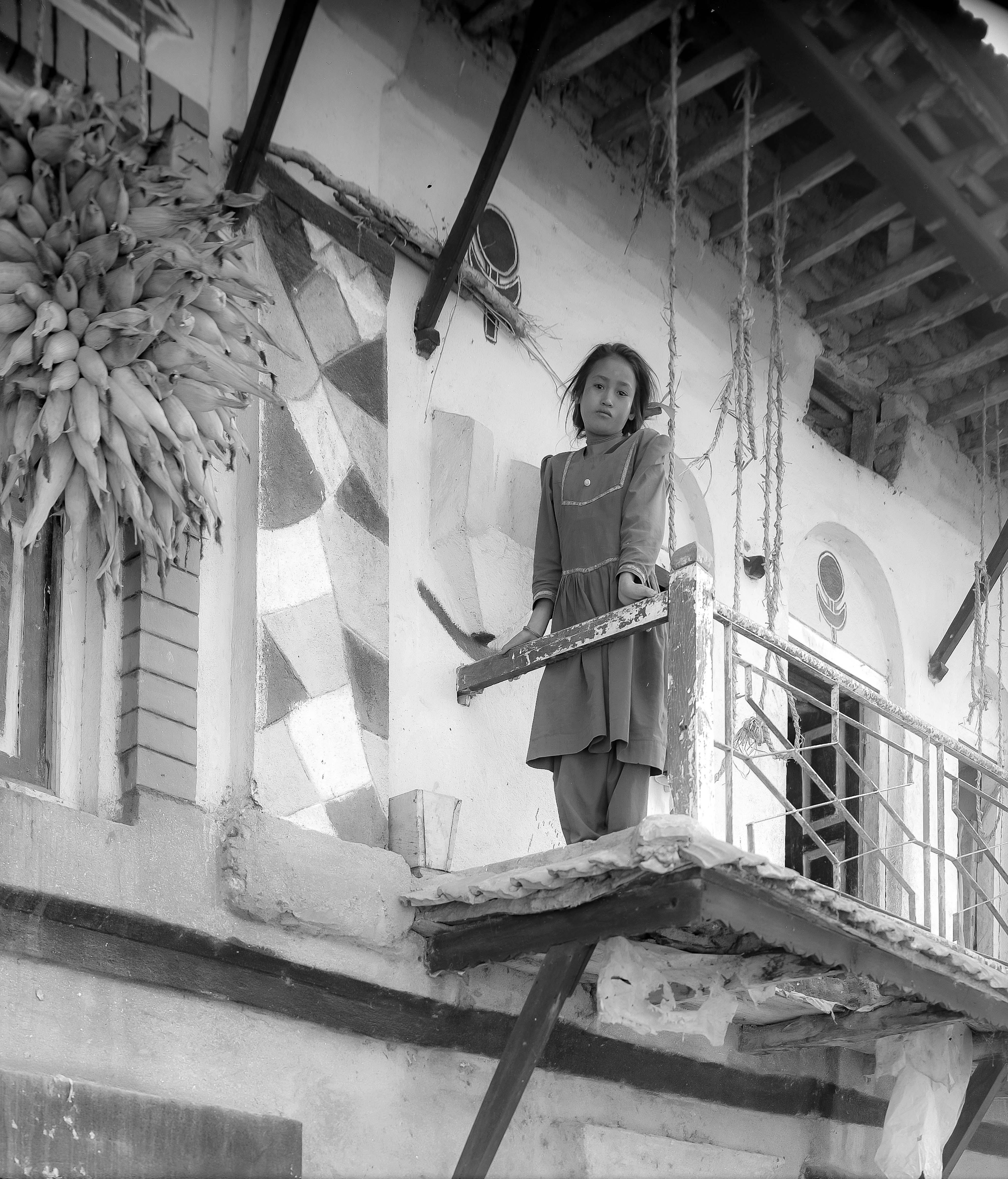 Nepal, Girl On Balcony, 1995