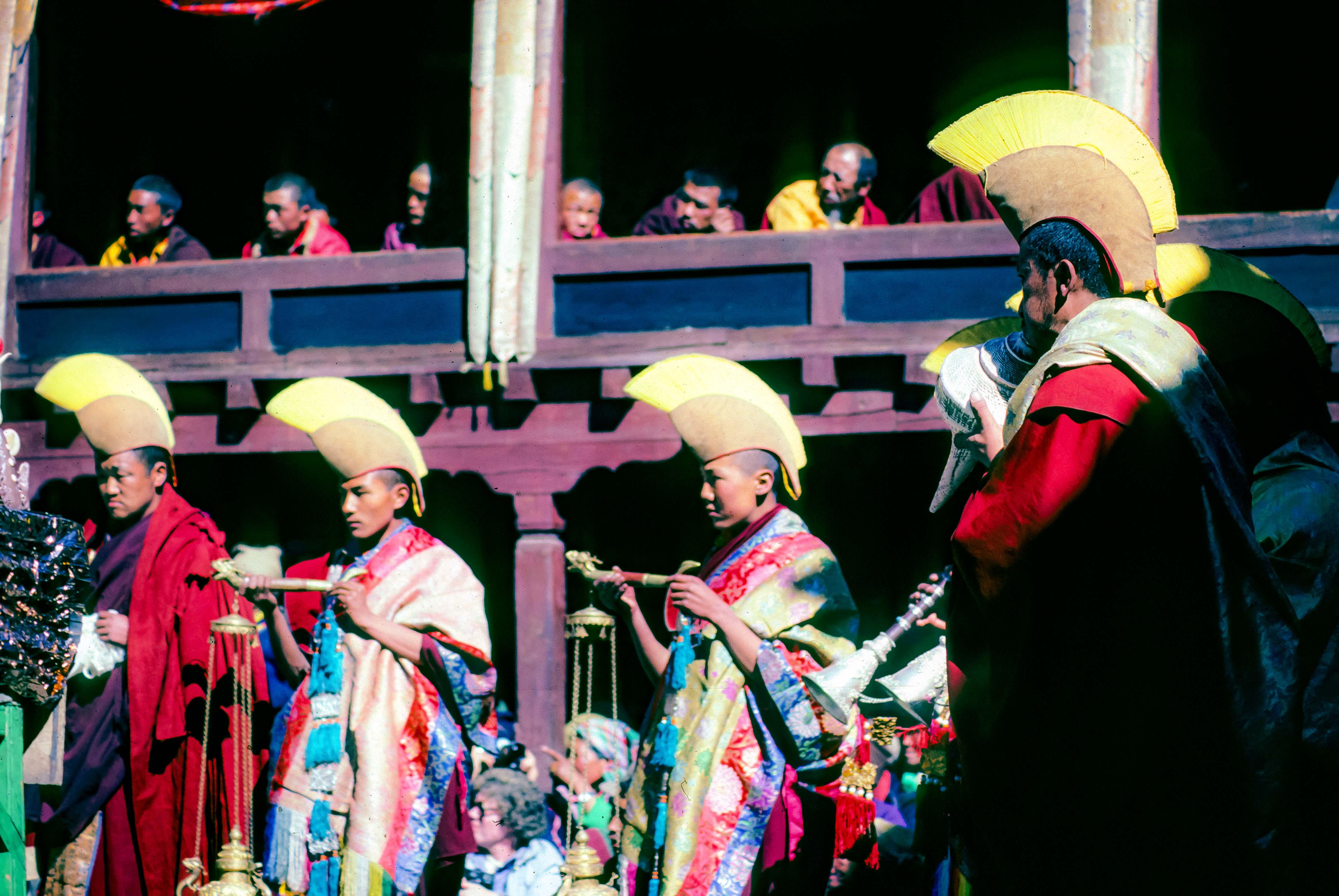 Nepal, Mani Rimdu Monk Hats, 1983