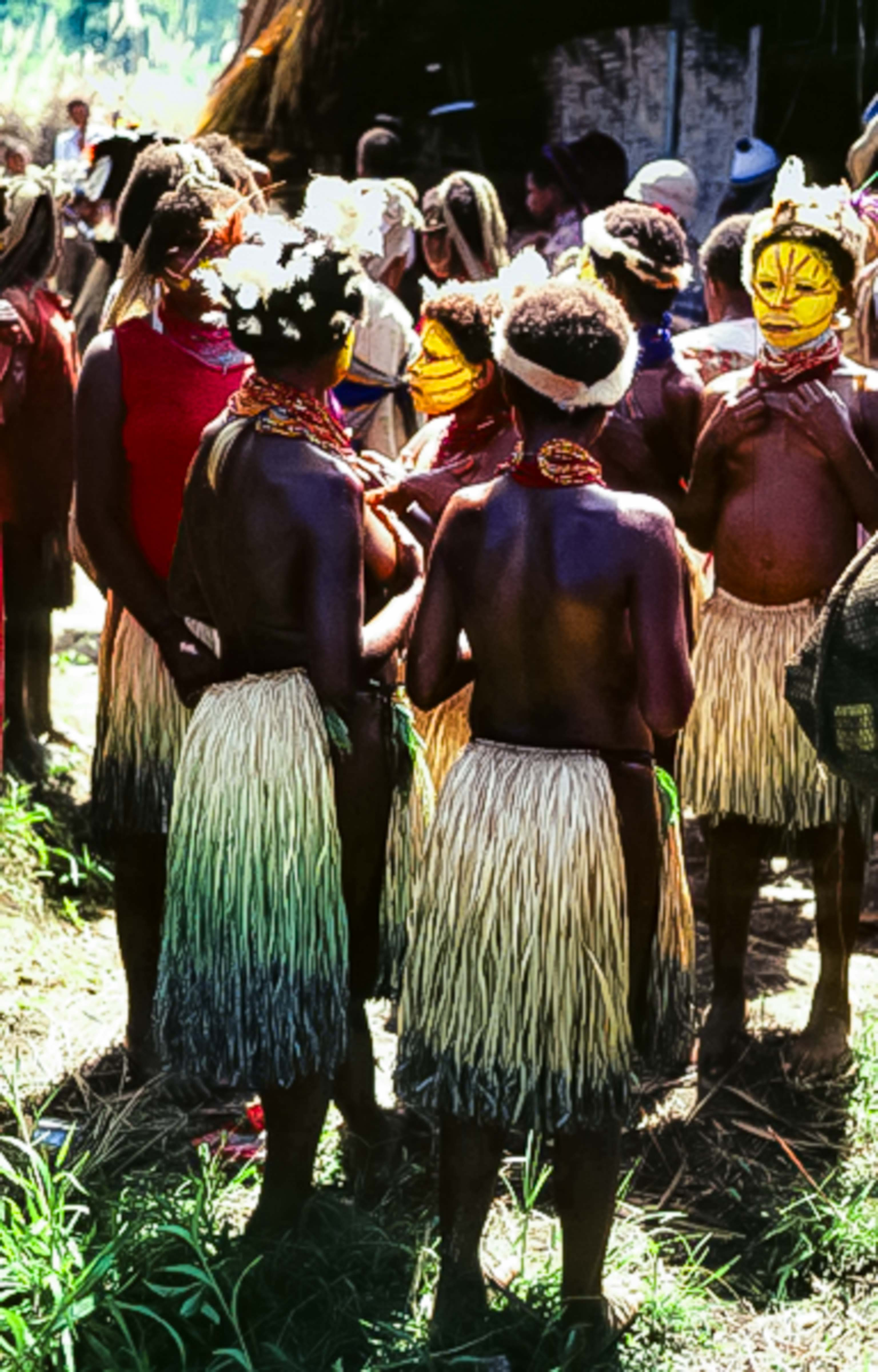 Papua New Guinea, Girls Covering Breasts, 1983