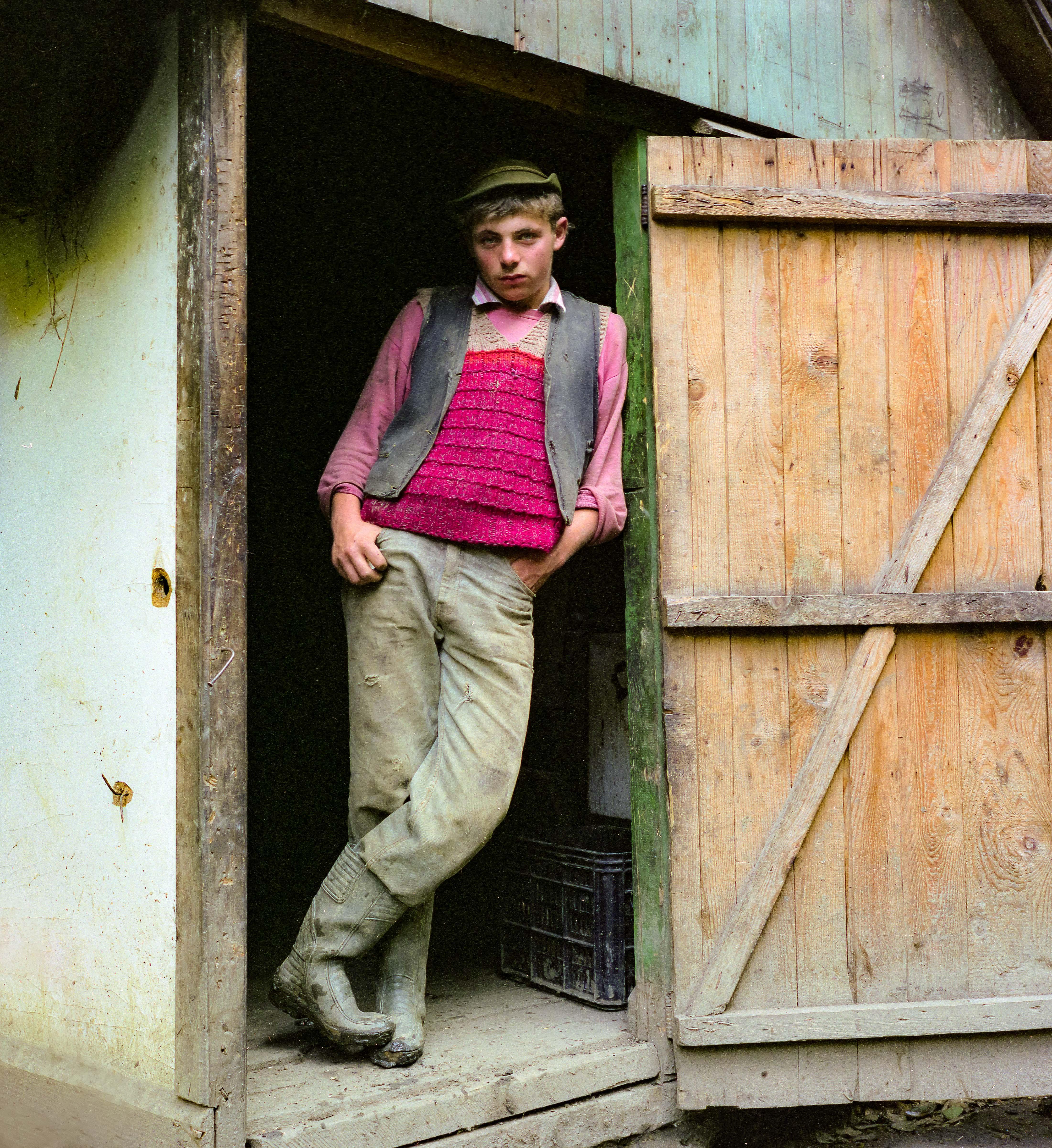 Romania, Young Man In Doorway, 1997