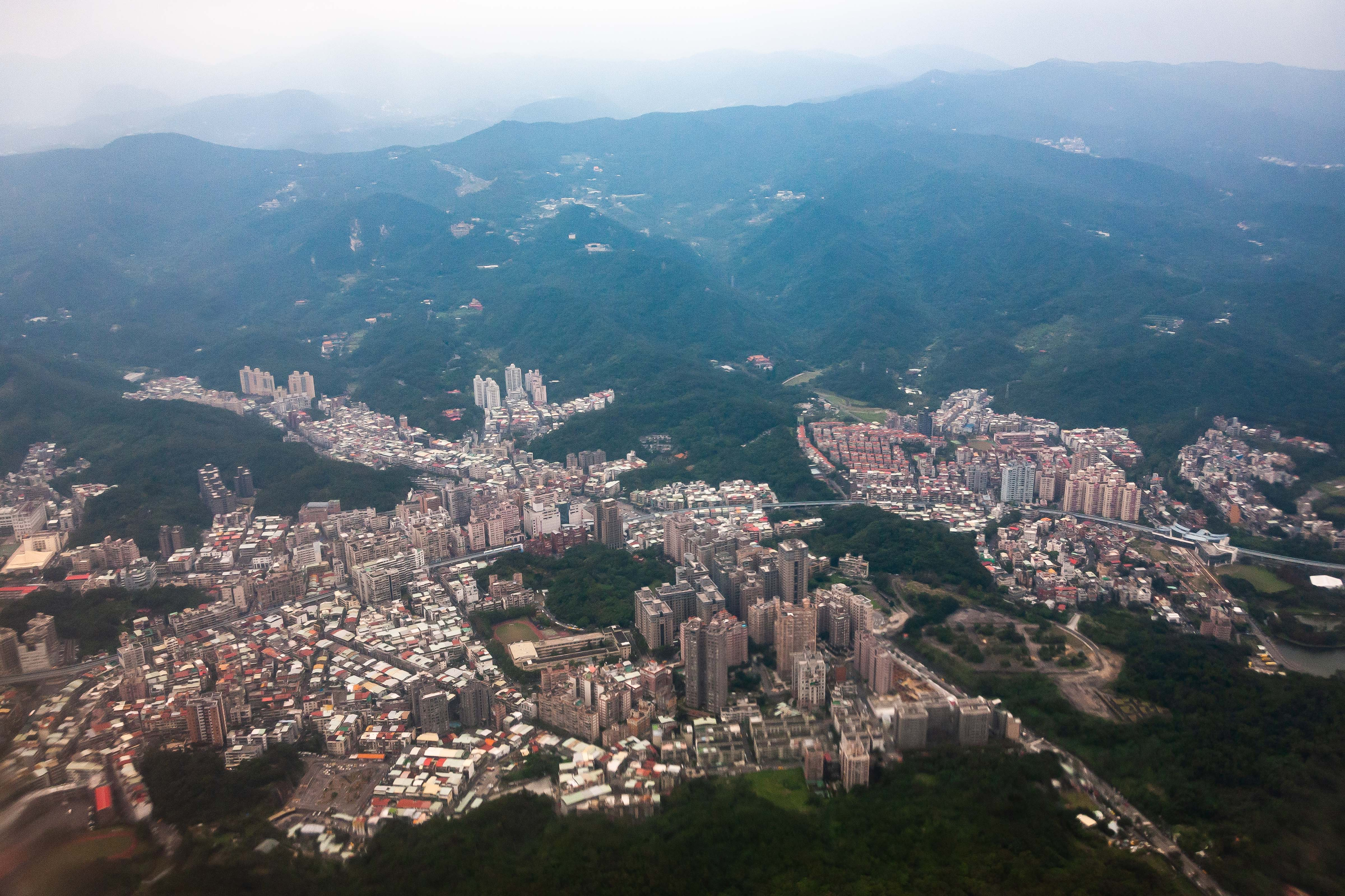Taiwan, Taipei City (TW-TPE) Prov, Aerial View, 2009, IMG 3989