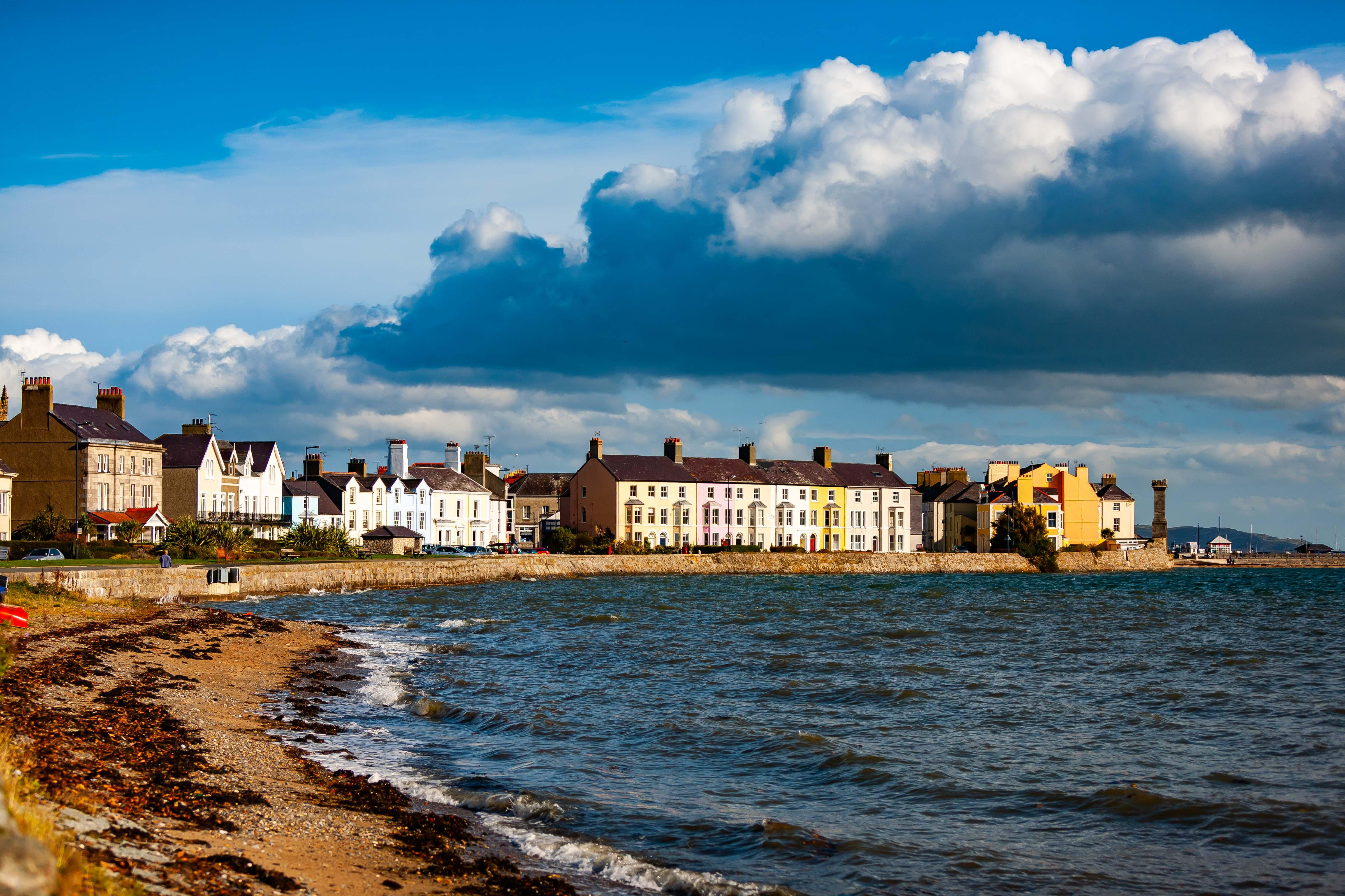 UK, Isle Of Anglesey Prov, Coastal Houses, 2009, IMG 5961