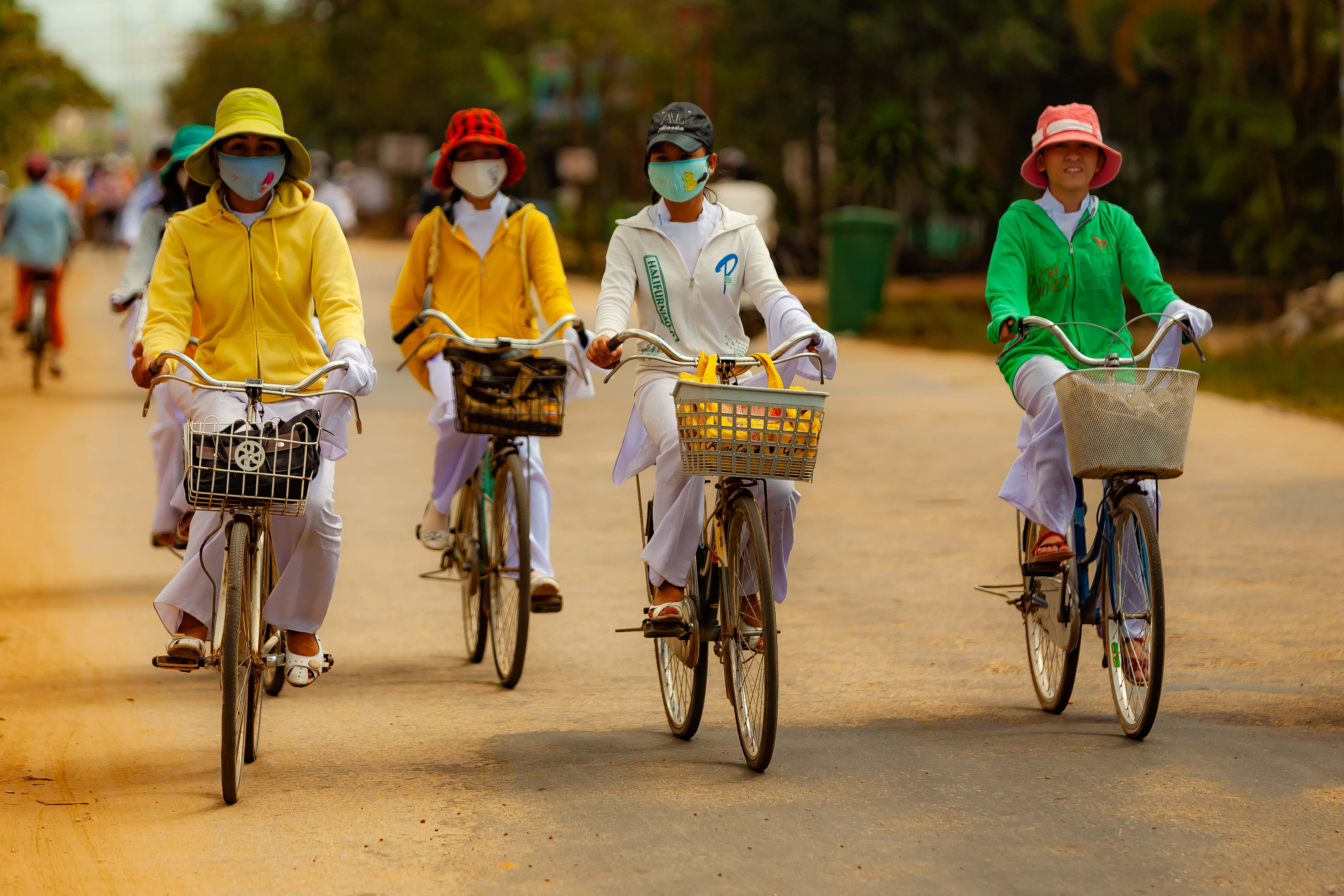 Vietnam, Quang Ngai Prov, Women On Bicycles, 2010, IMG 2578