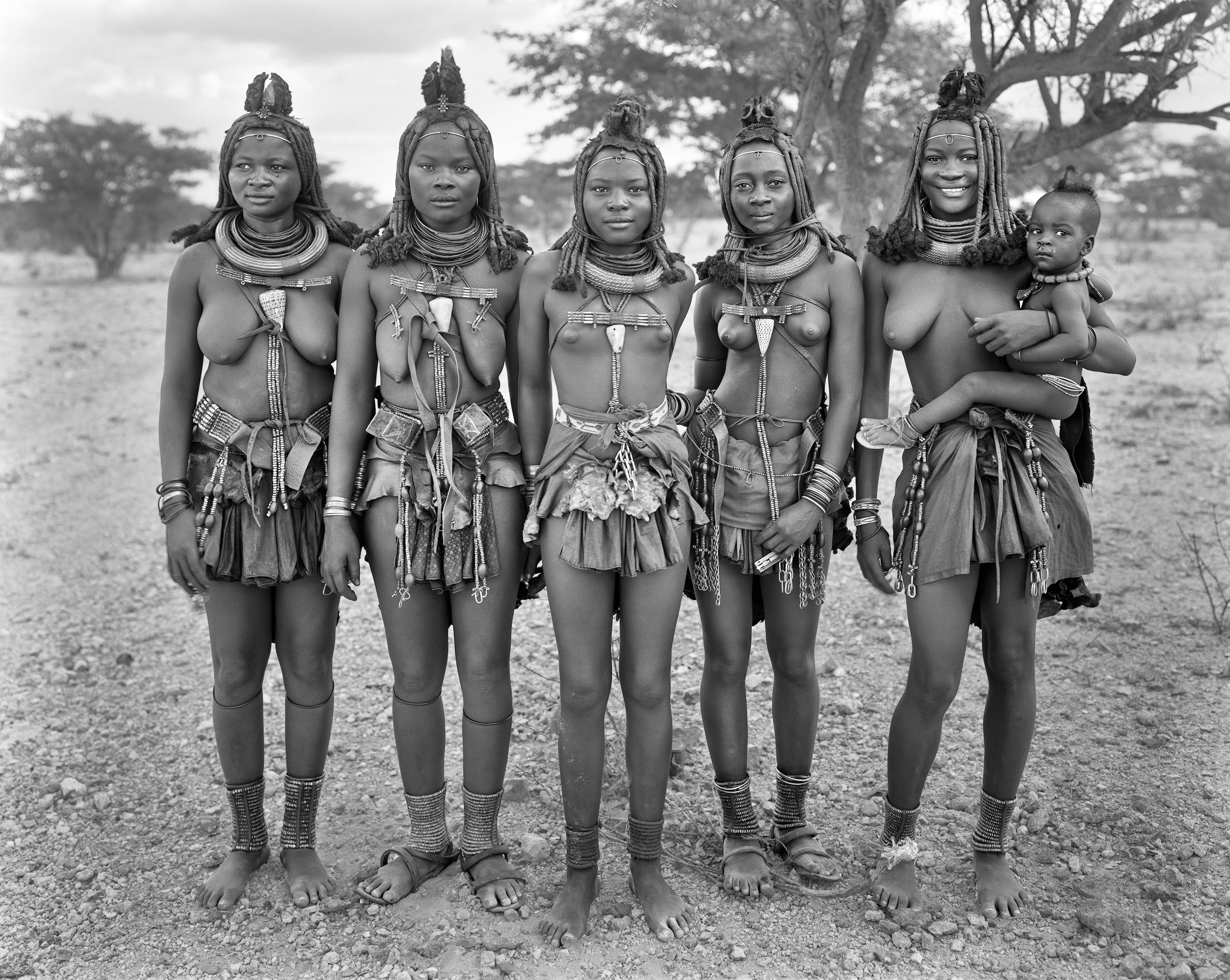 Five Himba Women with One Child