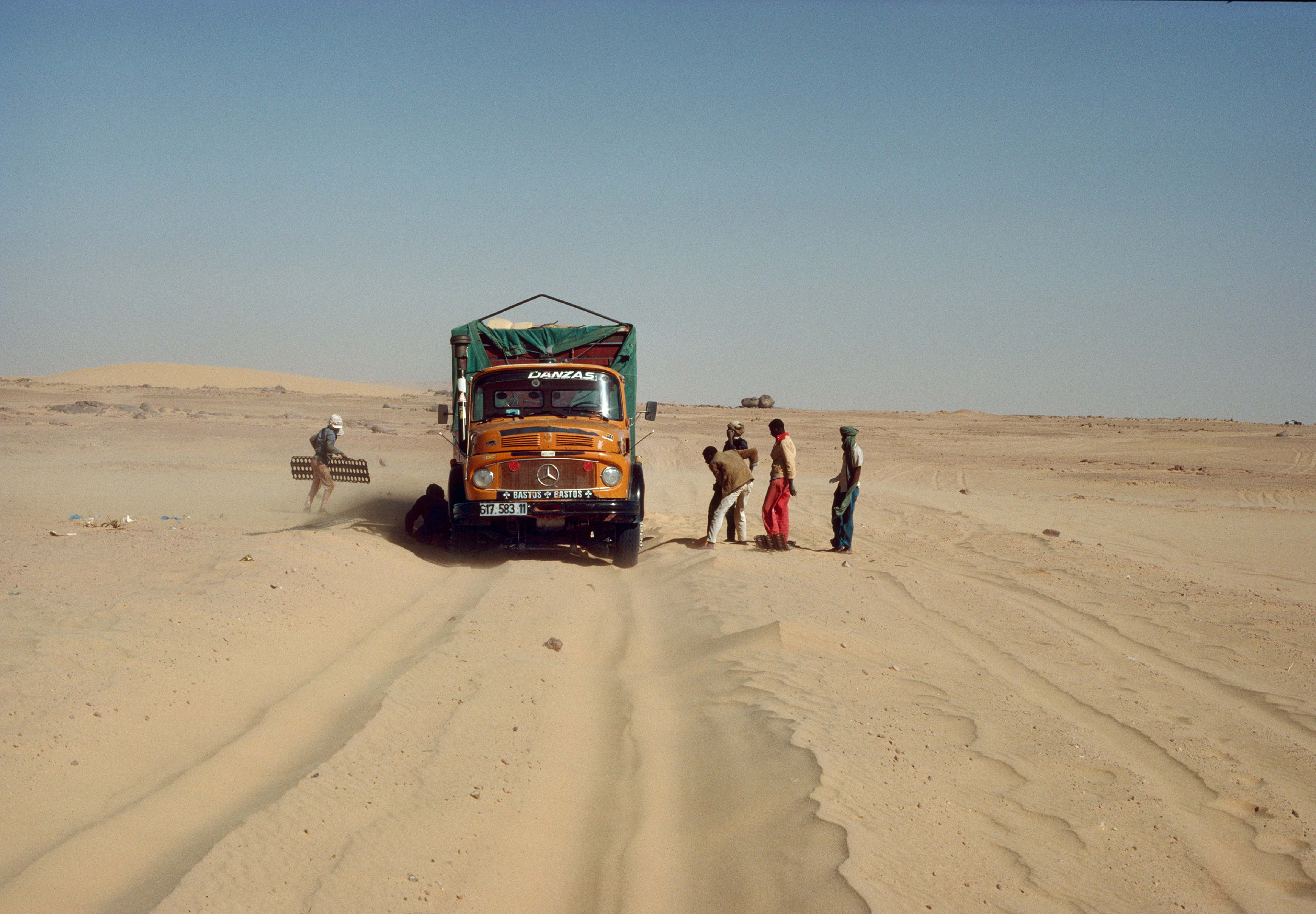 The Truck Gets Stuck in the Sand