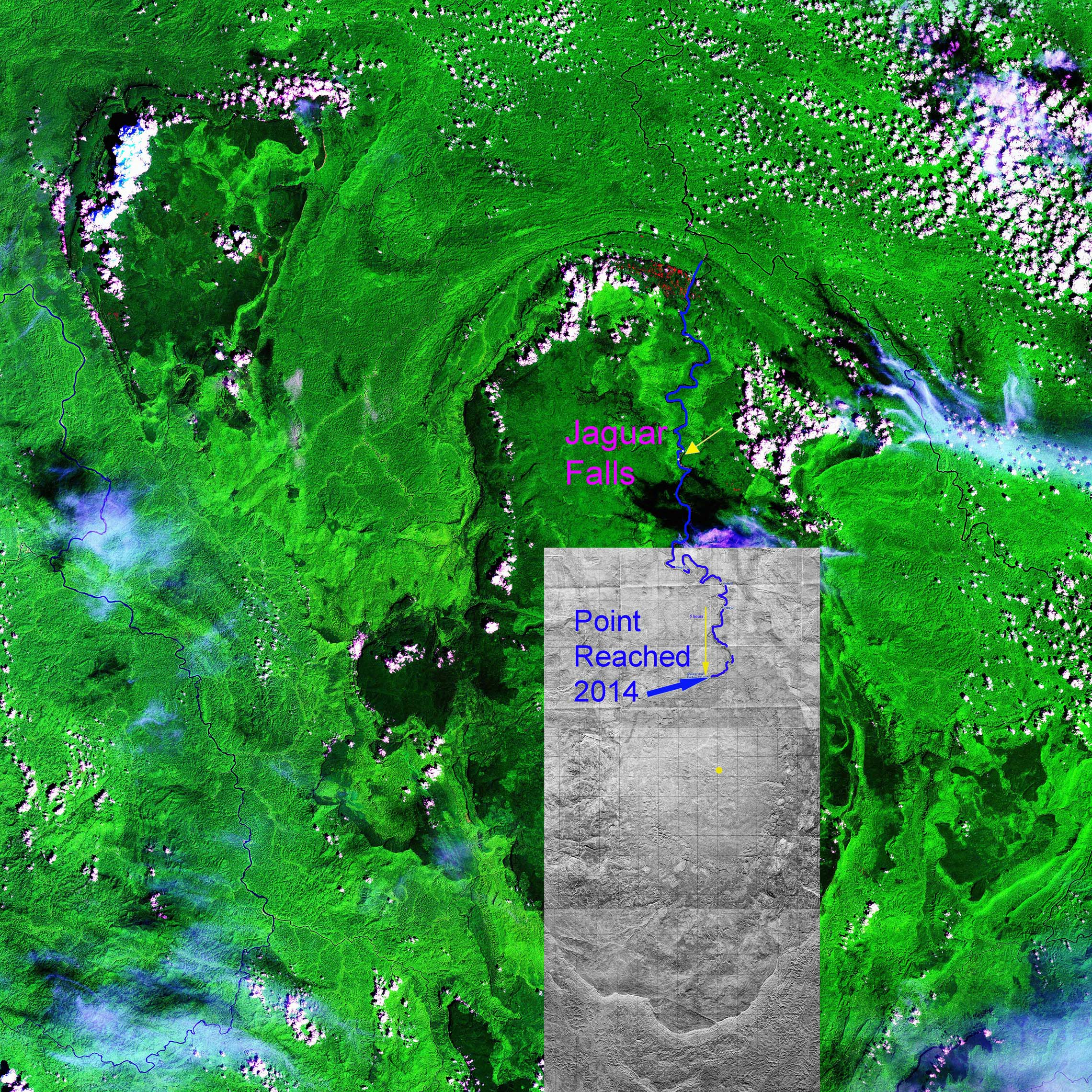 A Composite of a Satellite Image and Venezuelan Topographic Maps