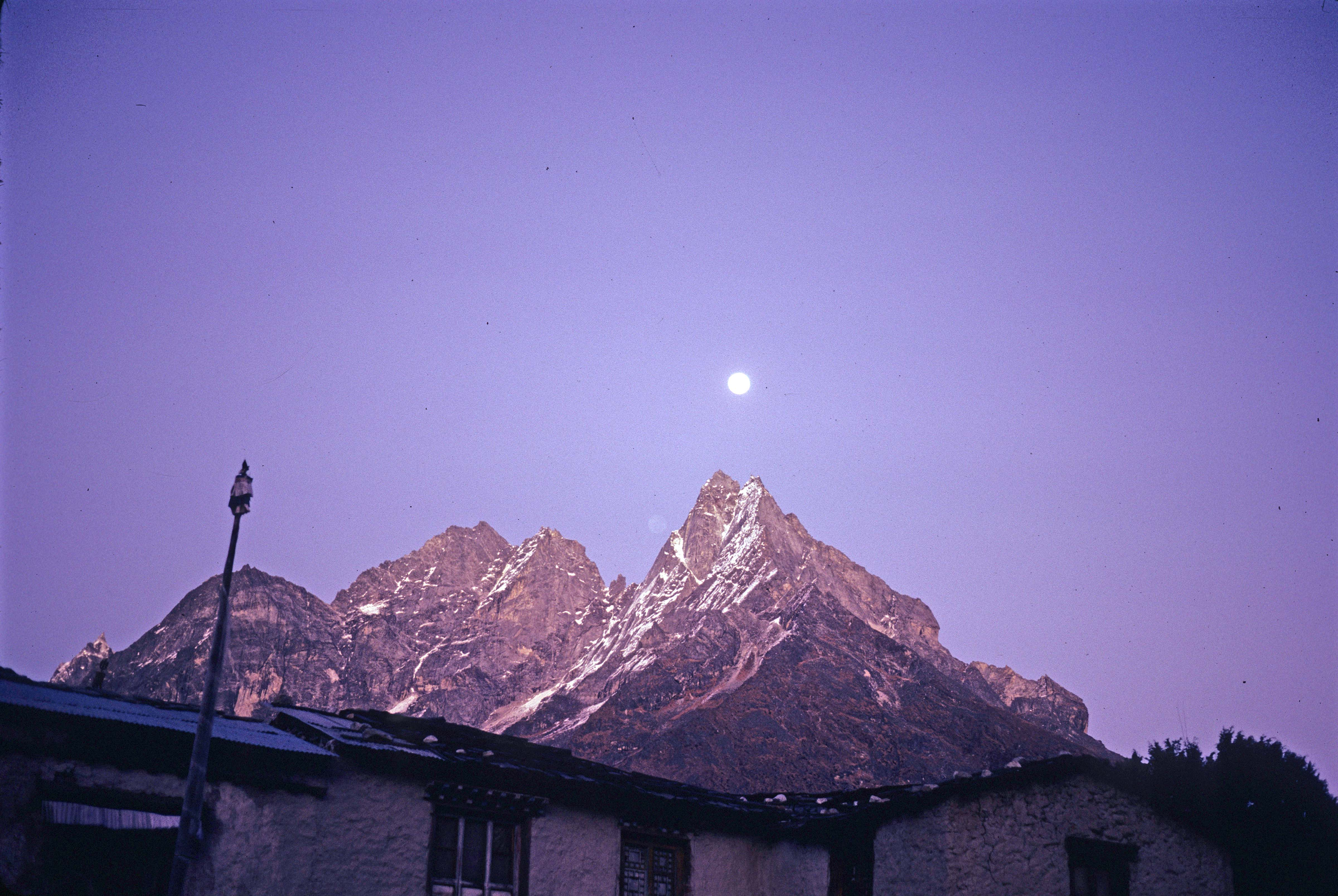Guesthouse under Moonlight at Thyangboche